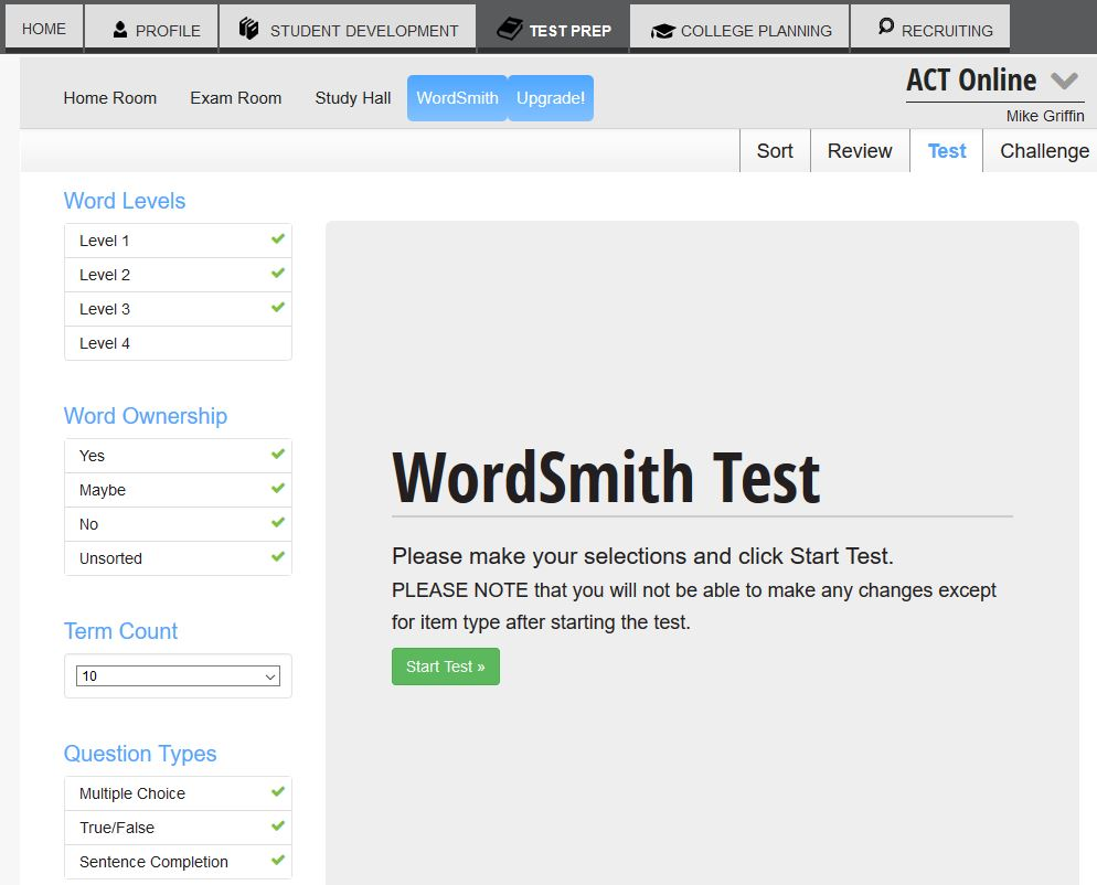 Use the Wordsmith to improve your vocabulary. -