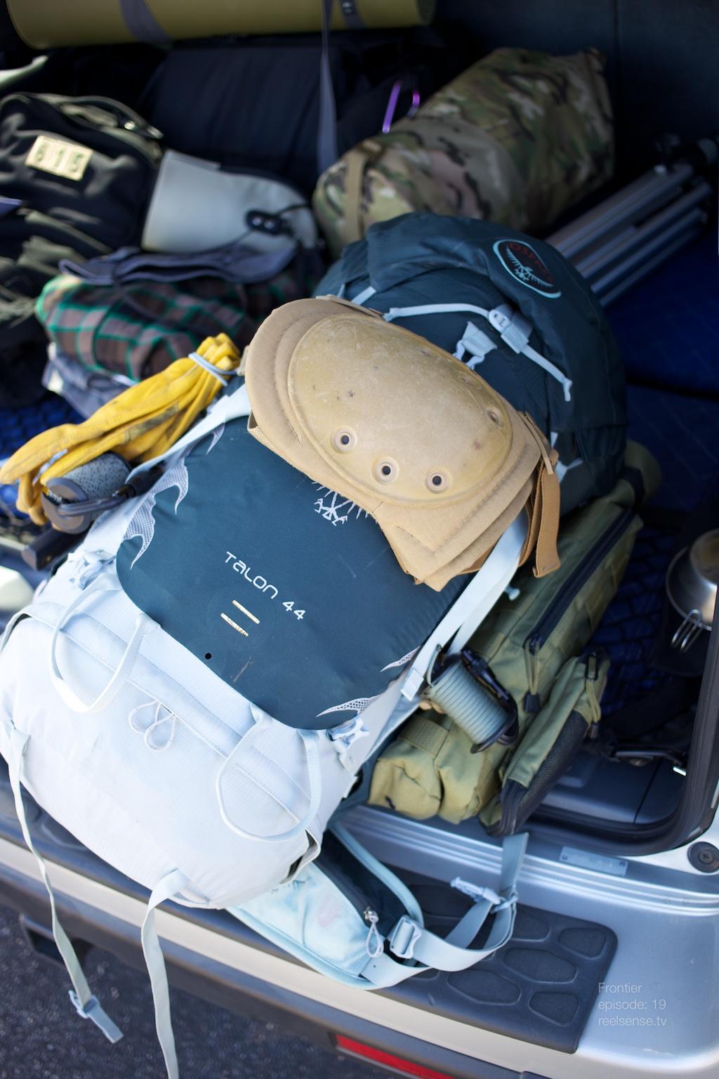 Joshua Tree - Osprey Talon 44 backpack in truck