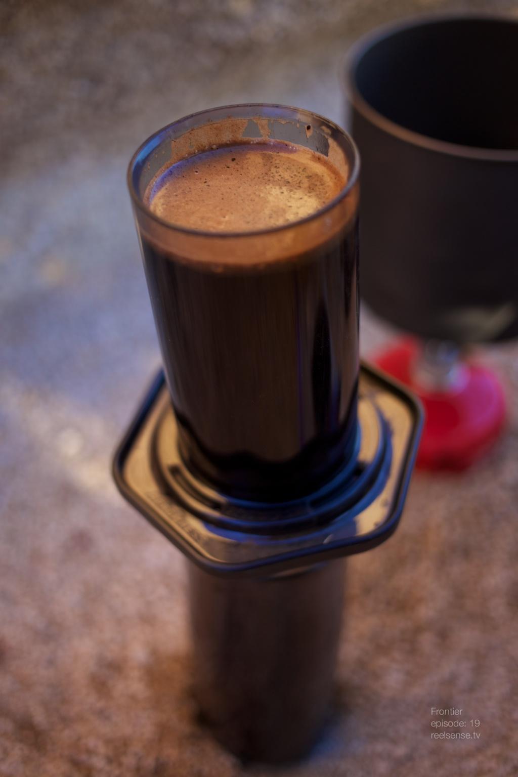 Joshua Tree - Starbucks Espresso blend in AeroPress