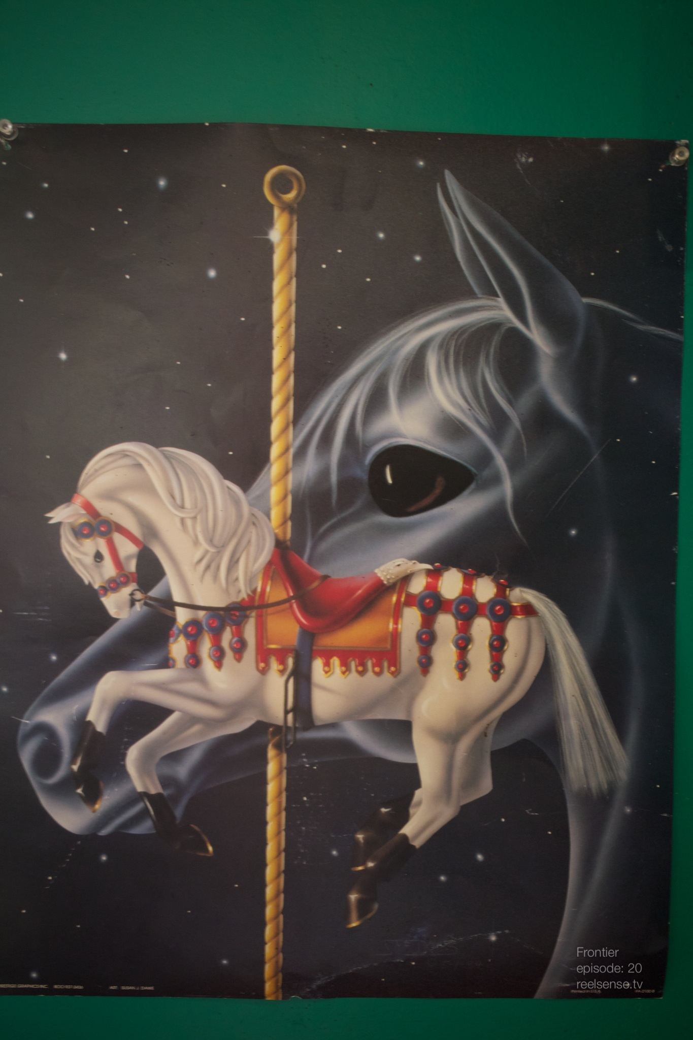 Joshua Tree - Creepy Unicorn painting in dinner