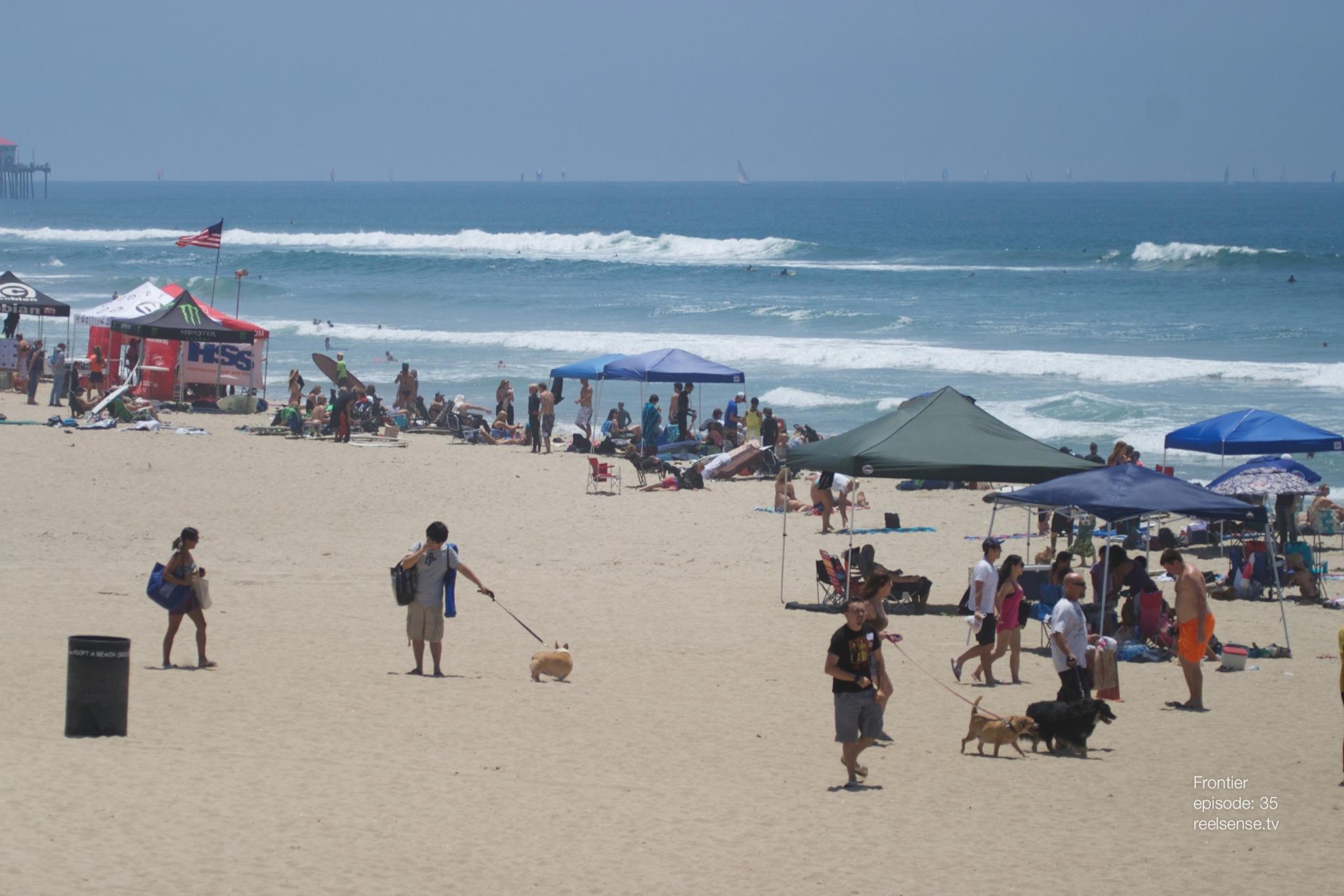 Huntington Dog Beach - Corgi Day 2013 beach front