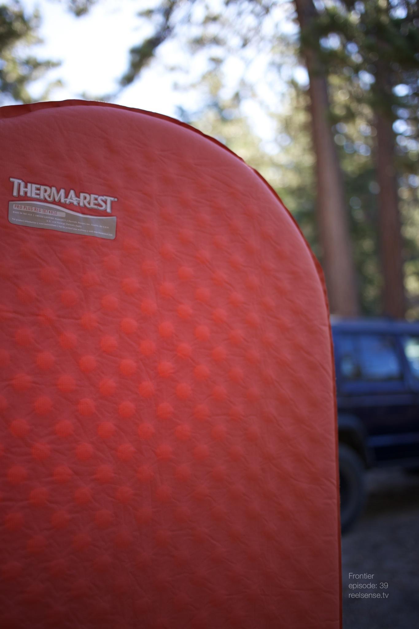 Big Bear, CA - Sunlight through Therm-a-Rest