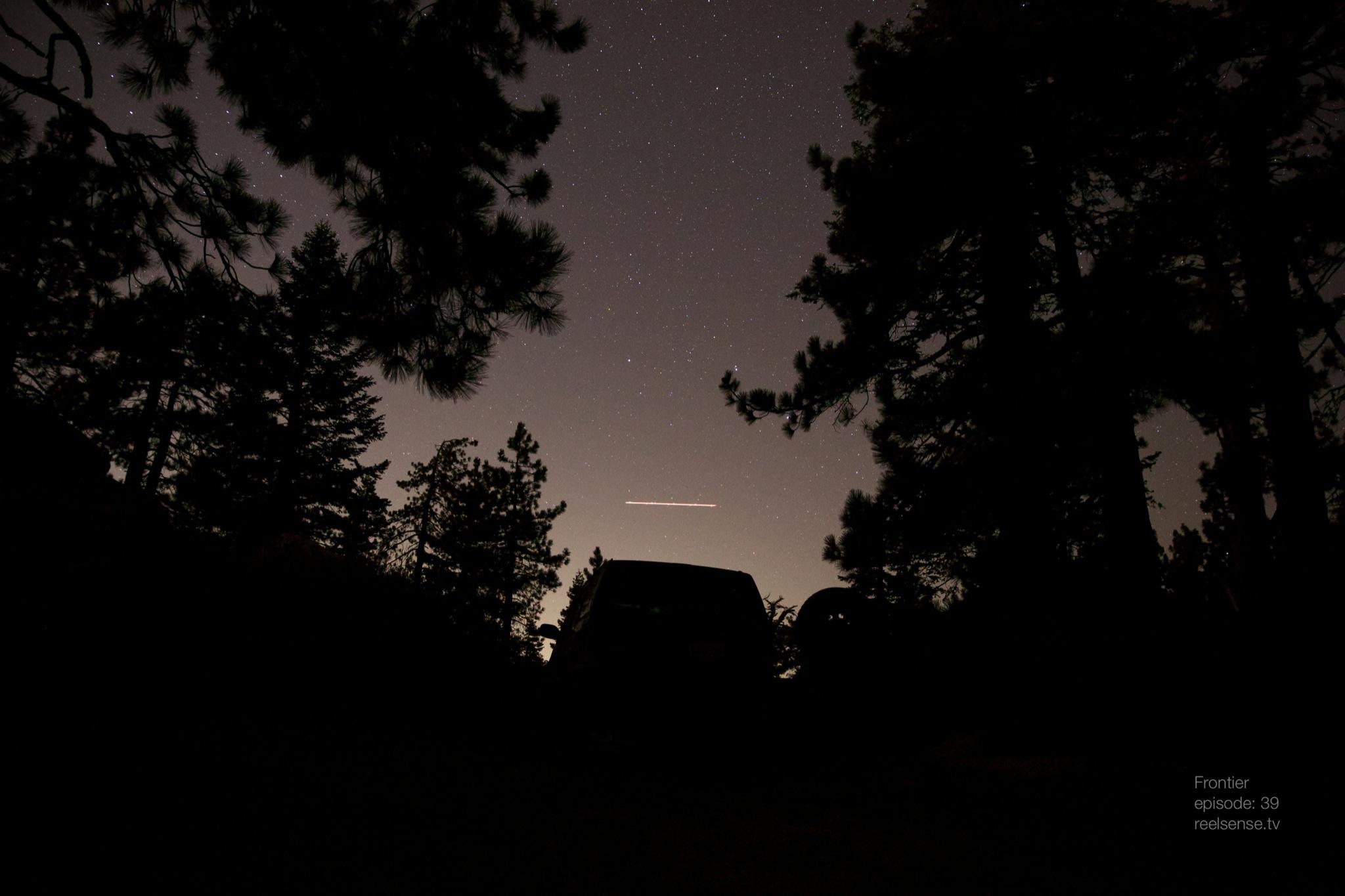 Big Bear, CA - Silhouette of Jeep