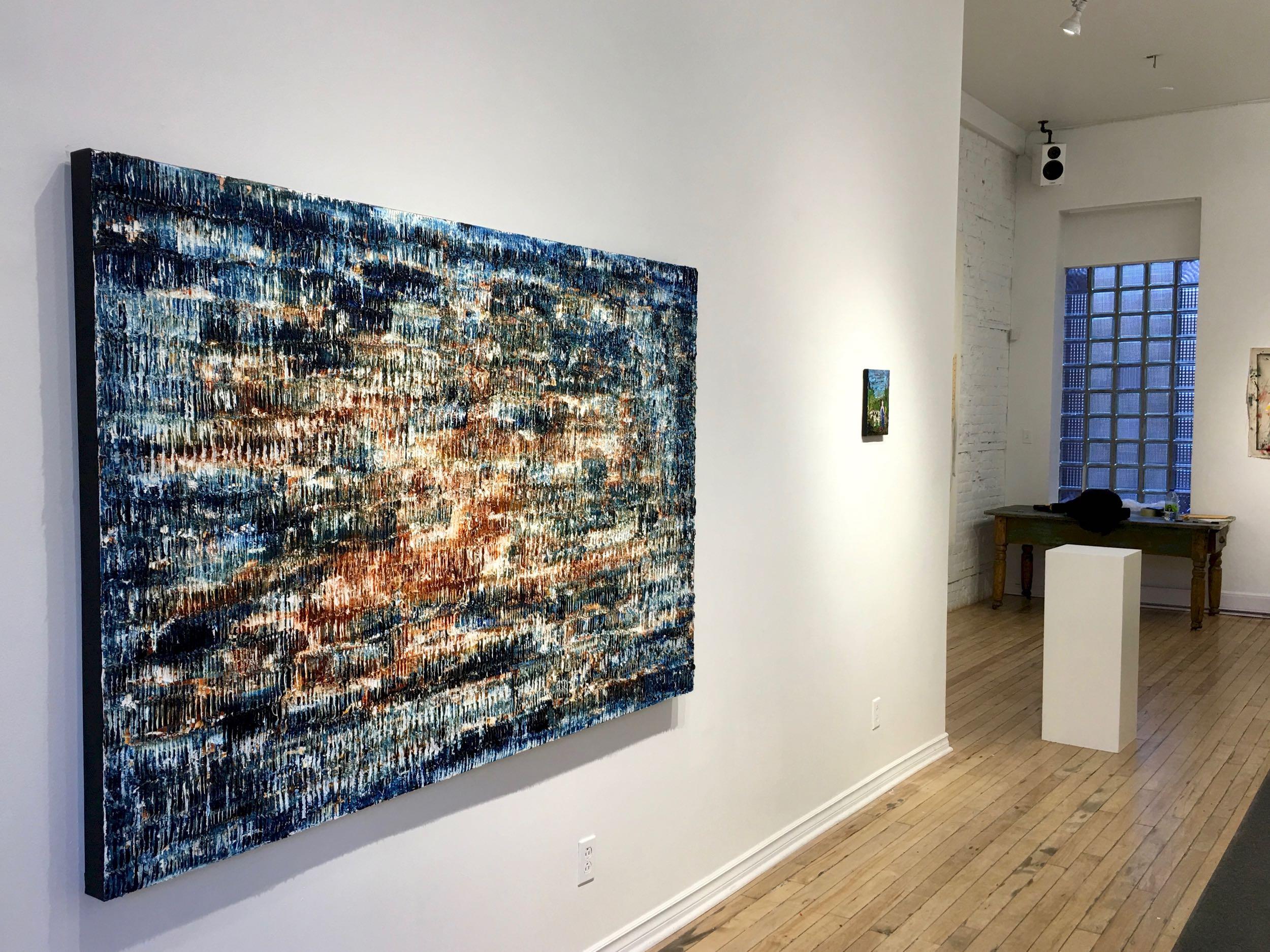 Le tableau  Sandbanks, présentement exposé à la Galerie Youn jusqu'au 11 mars 2017