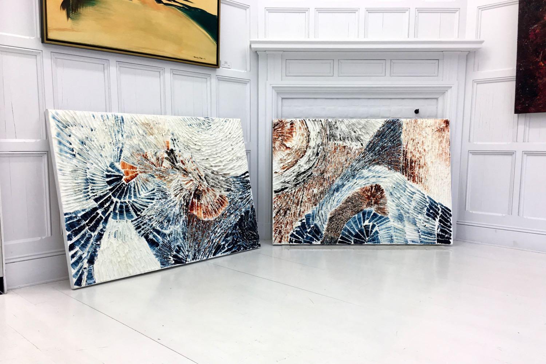 Les tableaux  Fire and Ice  et  Je voudrais voir la mer