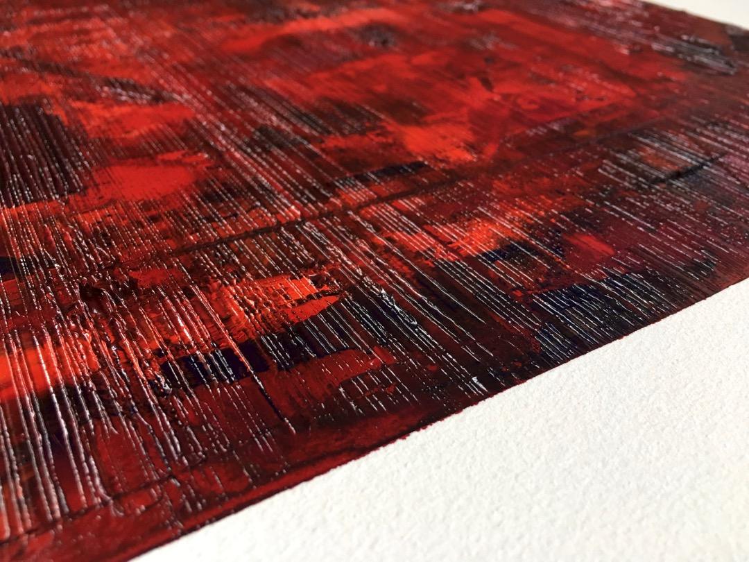 Vue rapprochée de la texture de l'œuvre