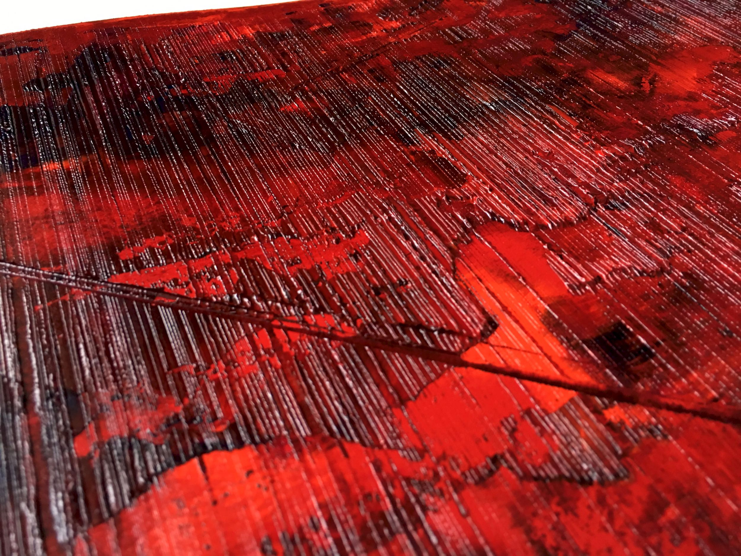 Up-close view of the artwork «Devenir Immortel»