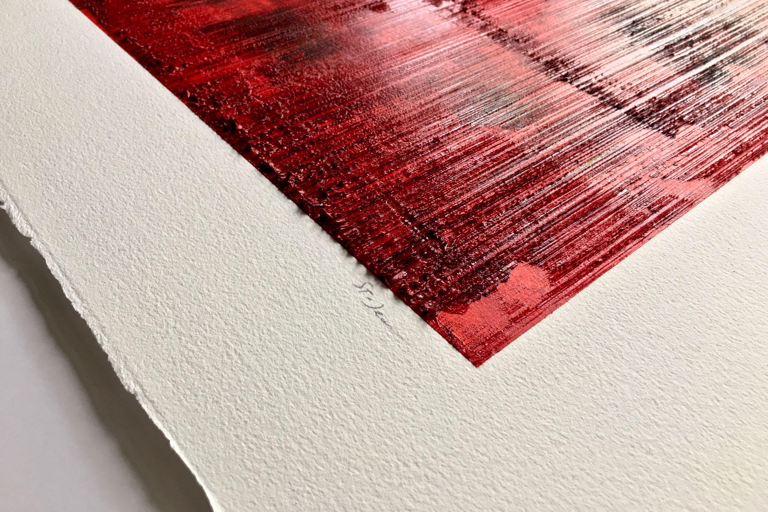"""Aperçu de l'œuvre  Eleven Points (huile sur papier, 22.5"""" x 30""""),qui sera dévoilée lors de l'exposition"""