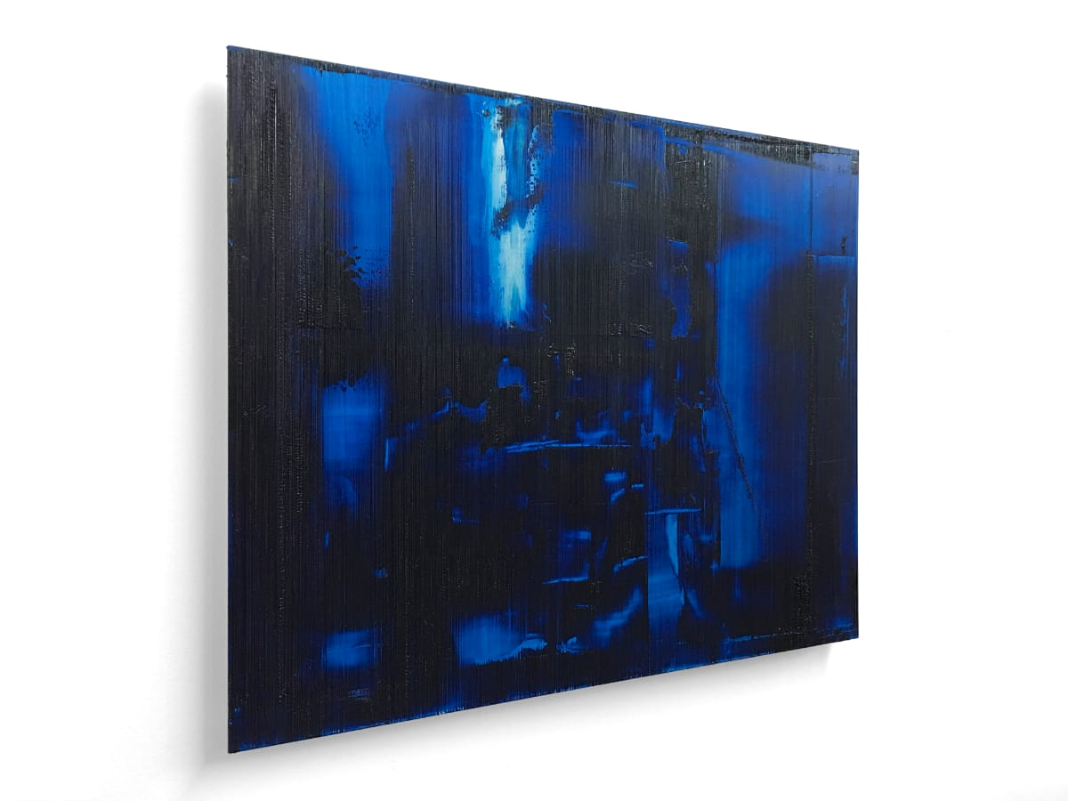 """Side view of the artwork titled """"Electric Dreams"""" by Louis-Bernard St-Jean"""