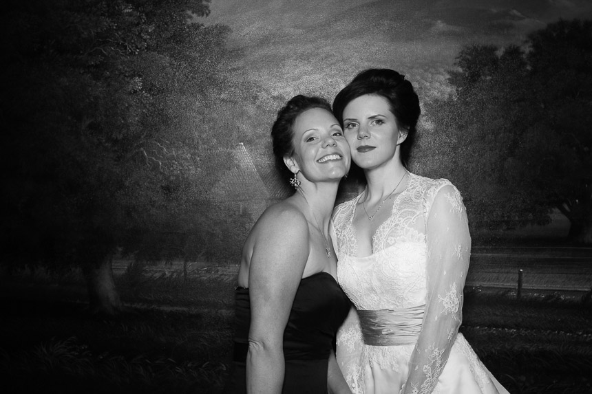 Andrea poses with her matron of honor.