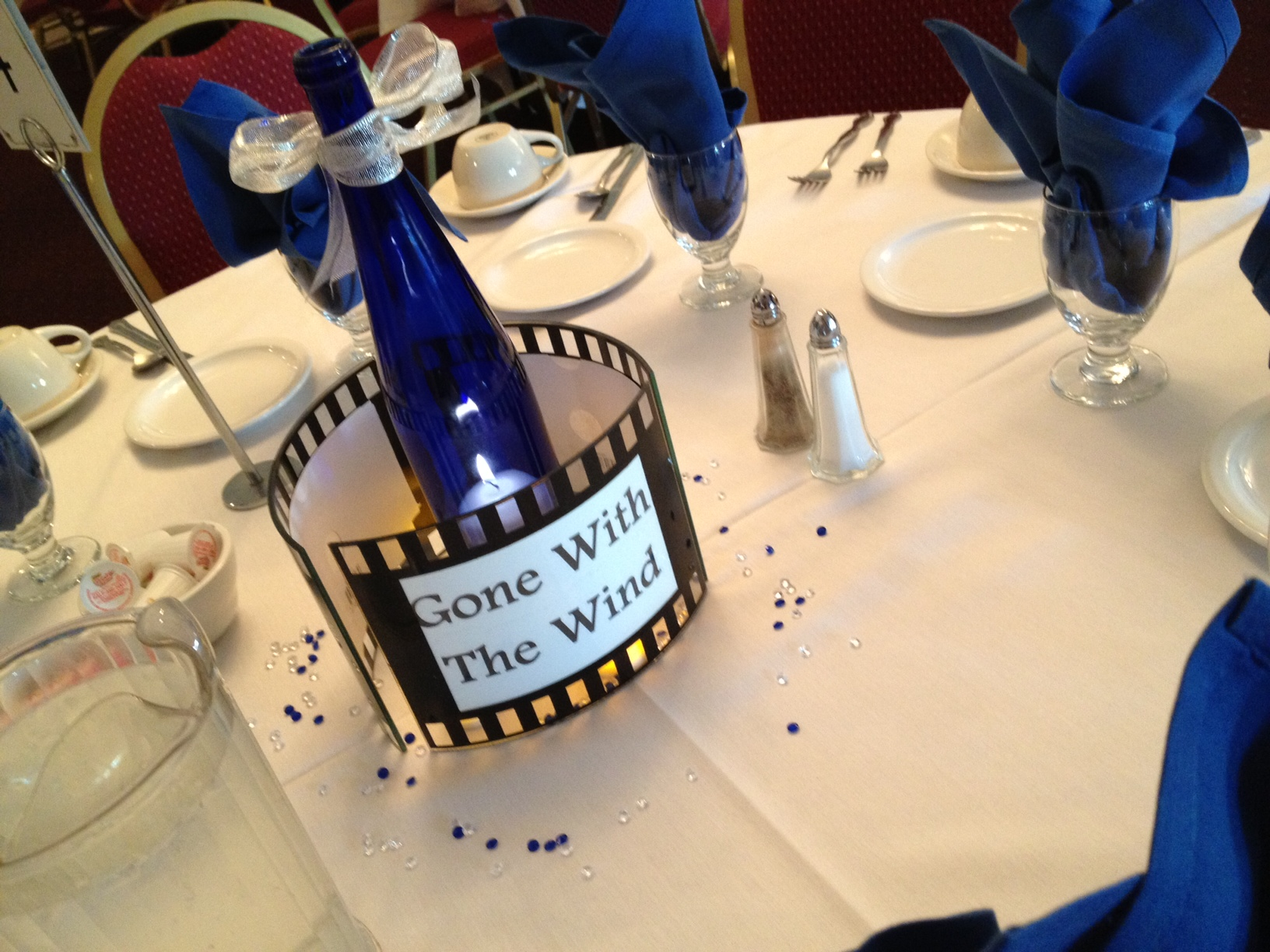 Each table was named with a different movie!