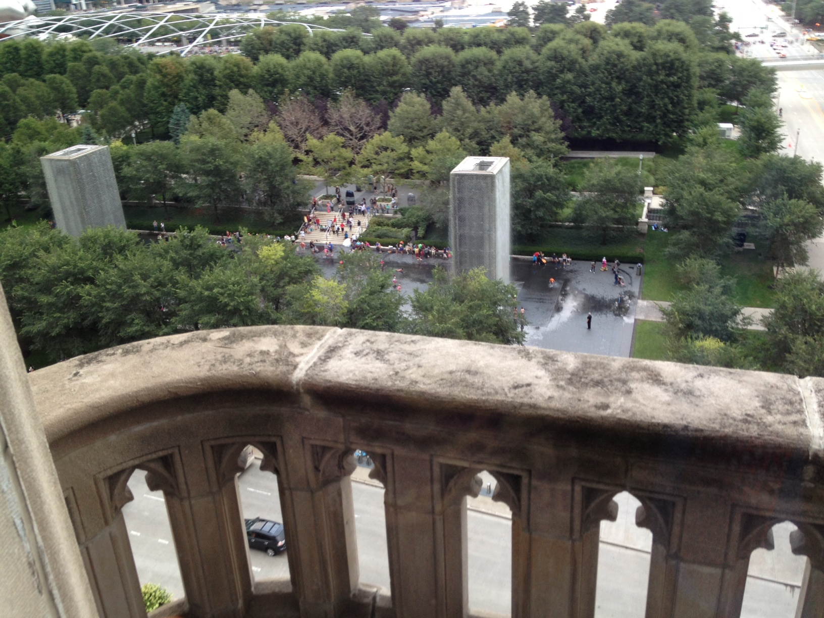 View of Millennium Park from Cathedral Hall balcony