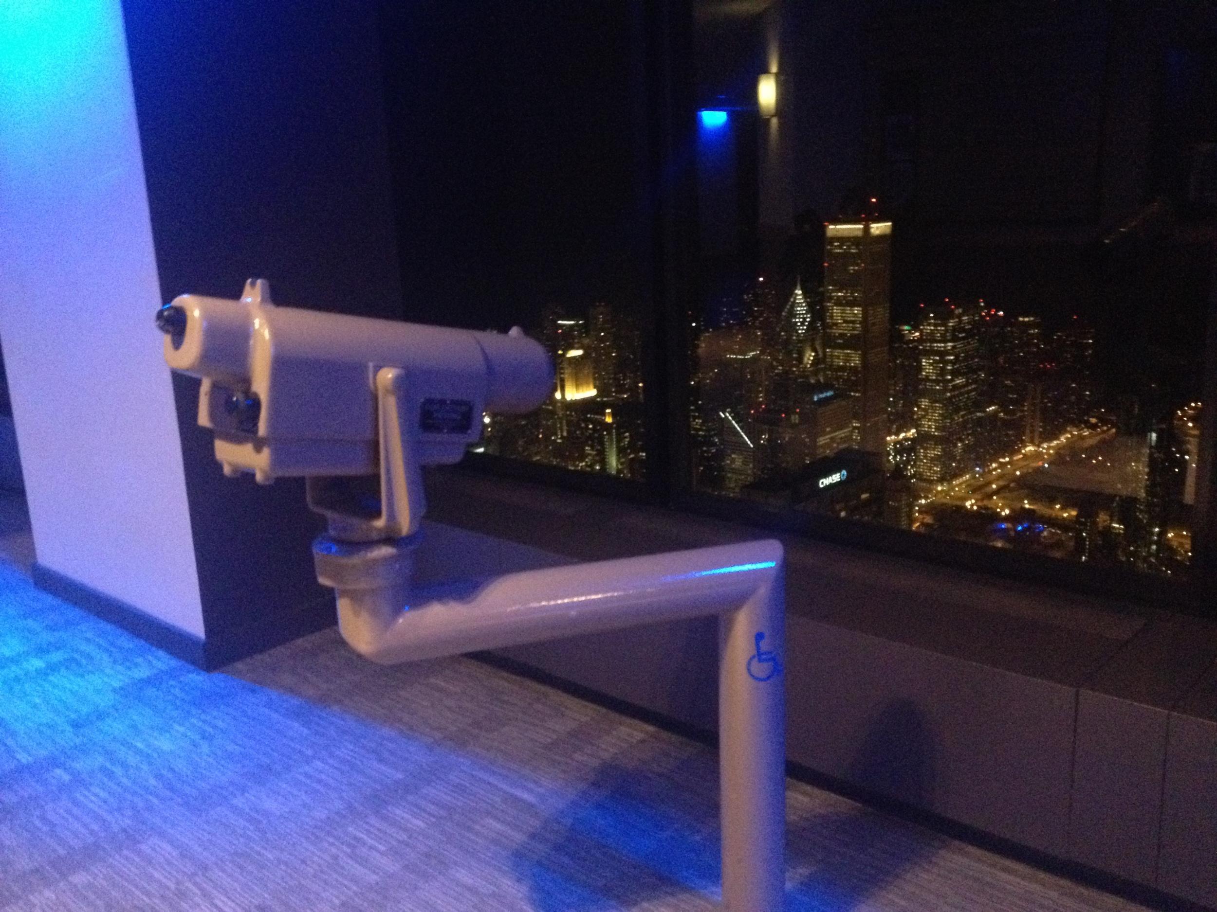 Skydeck lookout telescope.