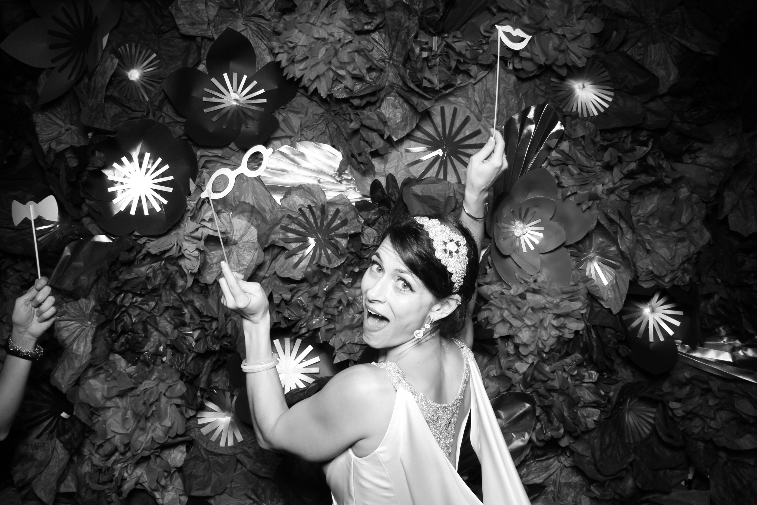 The beautiful bride having fun with Fotio!