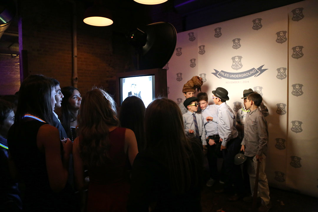 Check out this custom printed backdrop for Miles Bar Mitzvah photo booth!