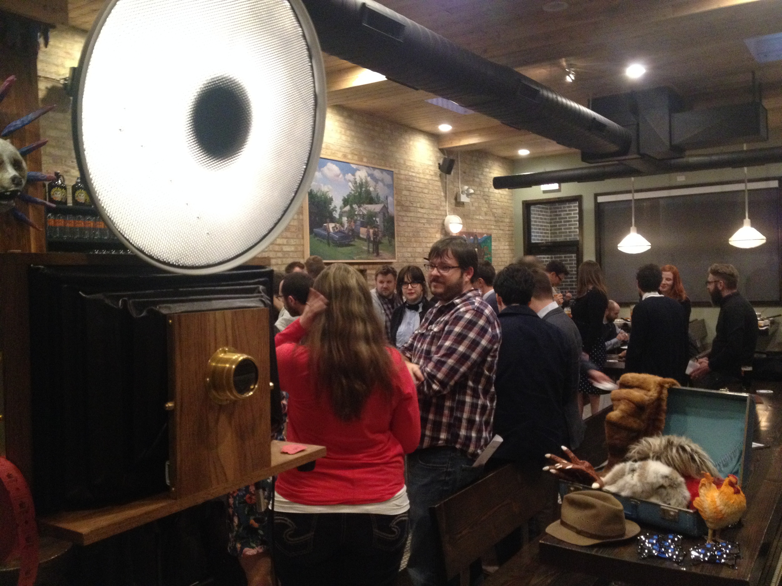 Check out Fotio photo booth at the Half Acre Tap Room!
