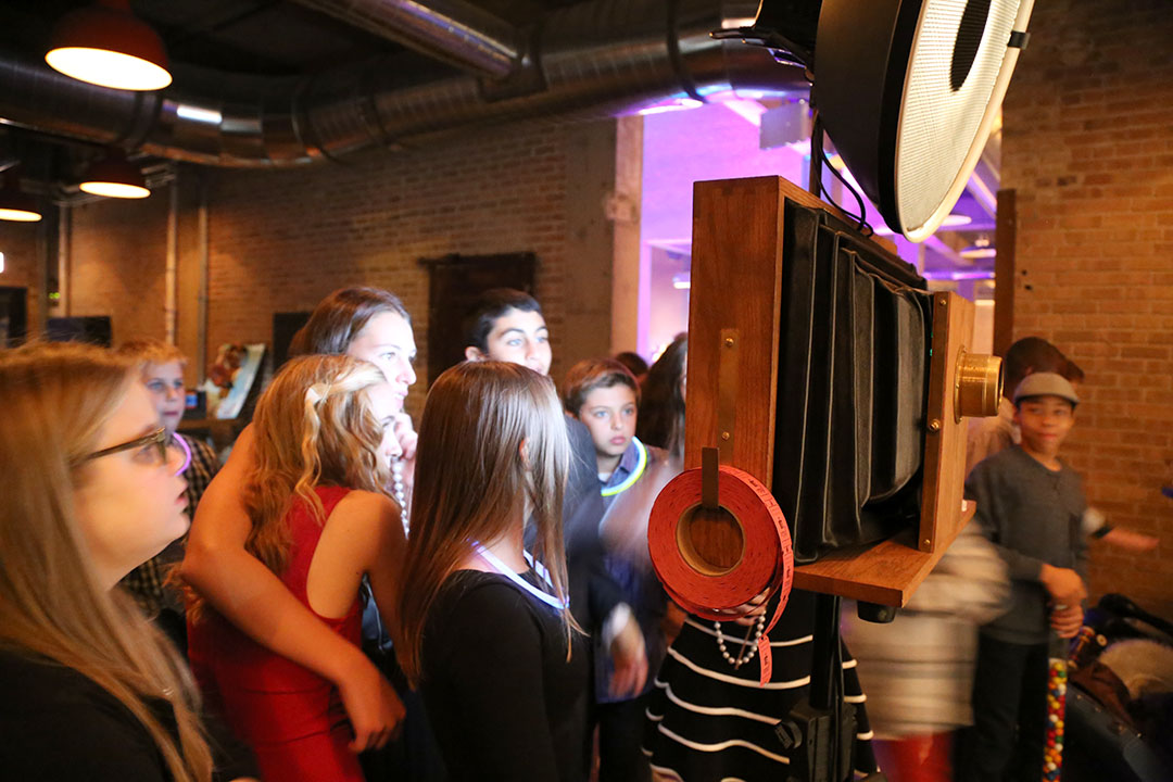 A Fotio photo booth setup at Morgan Manufacturing Chicago event space!