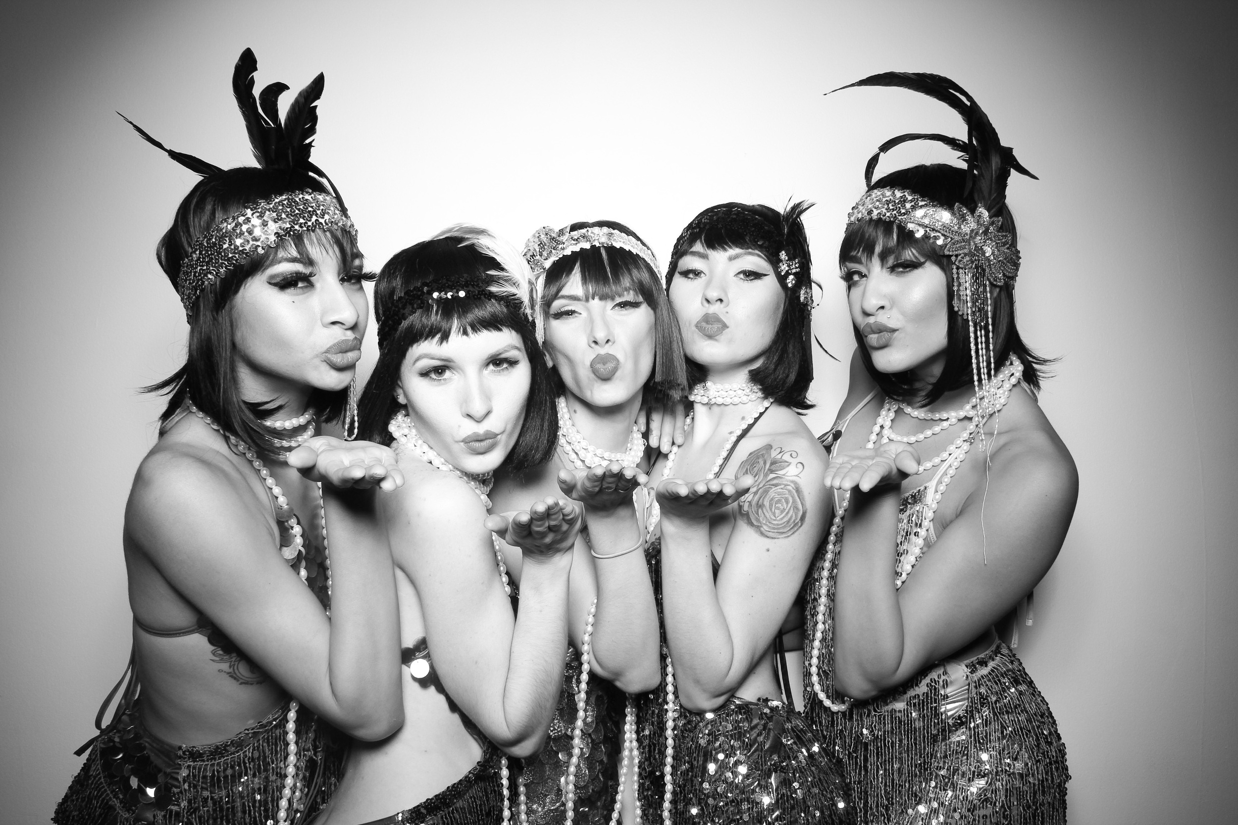 The Greaty Gatsby flapper girls looking good at Venue One!They werefrom Zhantra Entertainment Chicago.