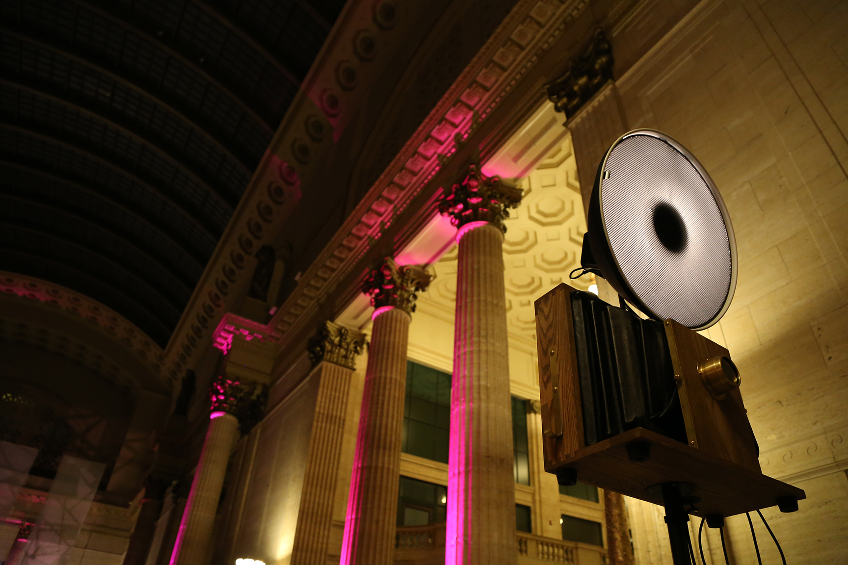 Frost did an amazing job with lighting the interior space in the Great Hall. Just look at the columns!
