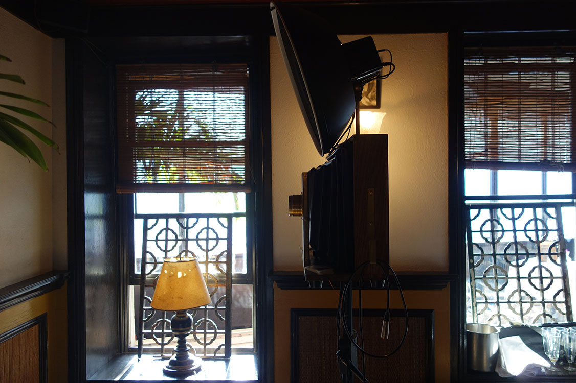 Fotio photo booth setup at Le Colonial Chicago.