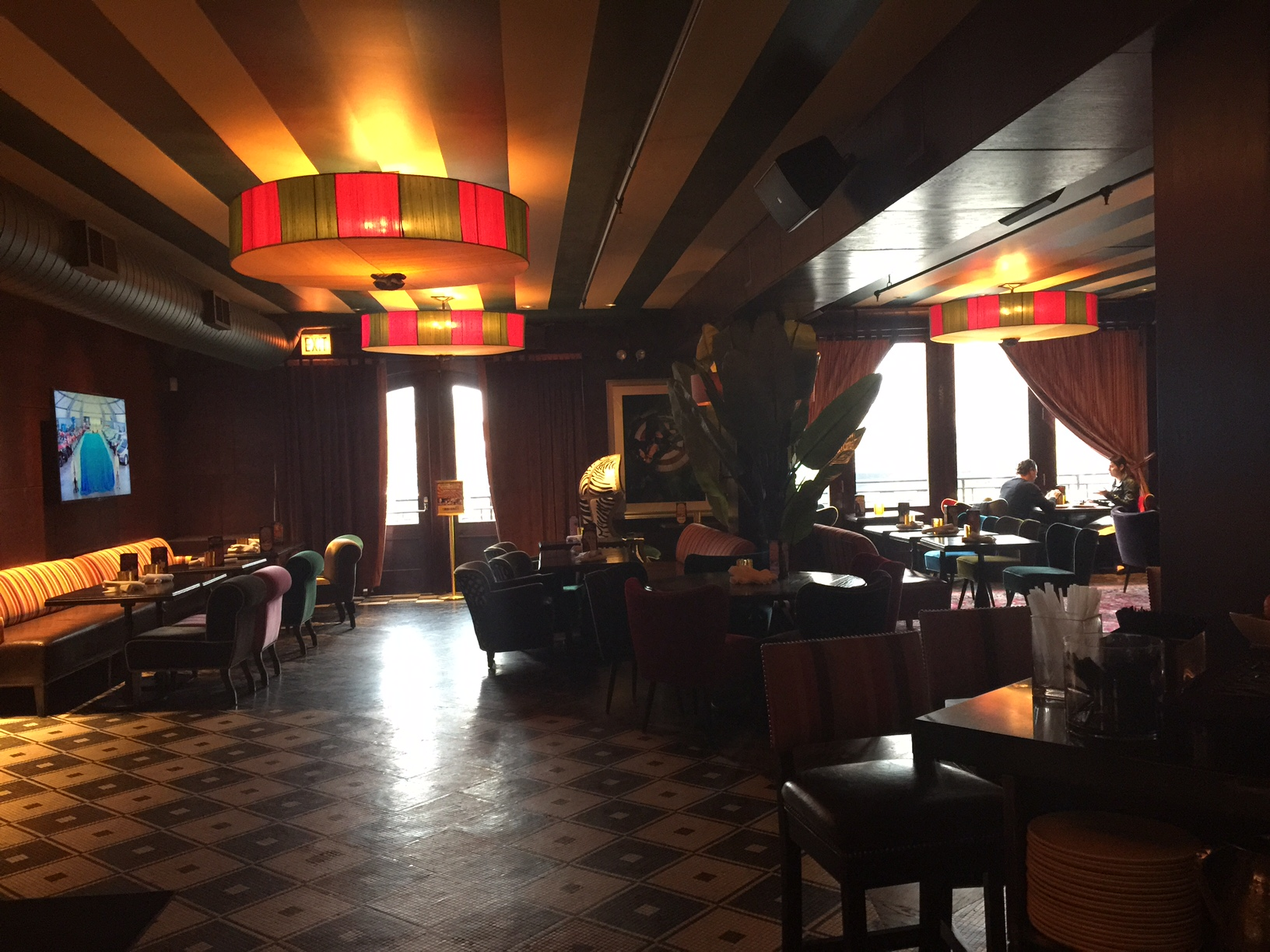 The funky interior of Carnivale Chicago.