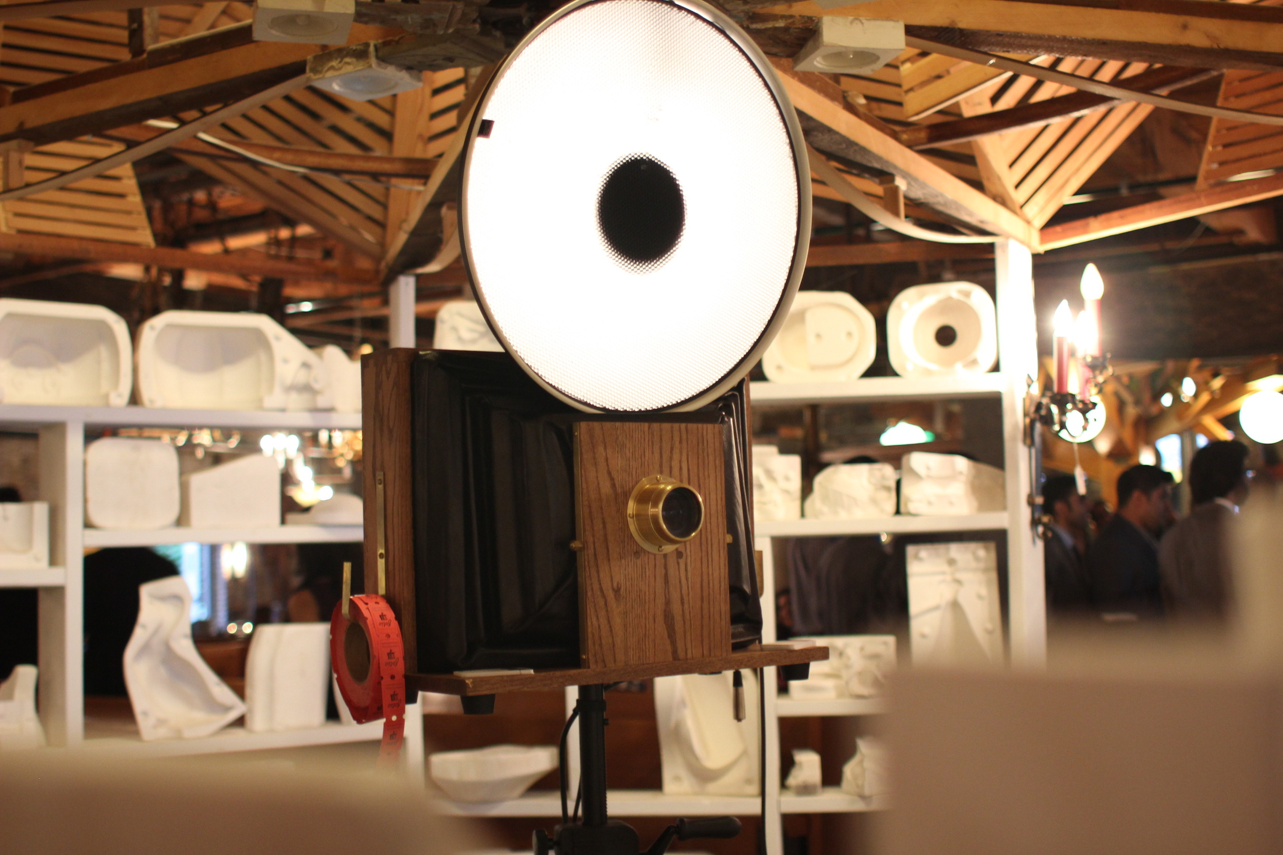 A Fotio photo booth setup at Salvage One in the Mold Igloo!