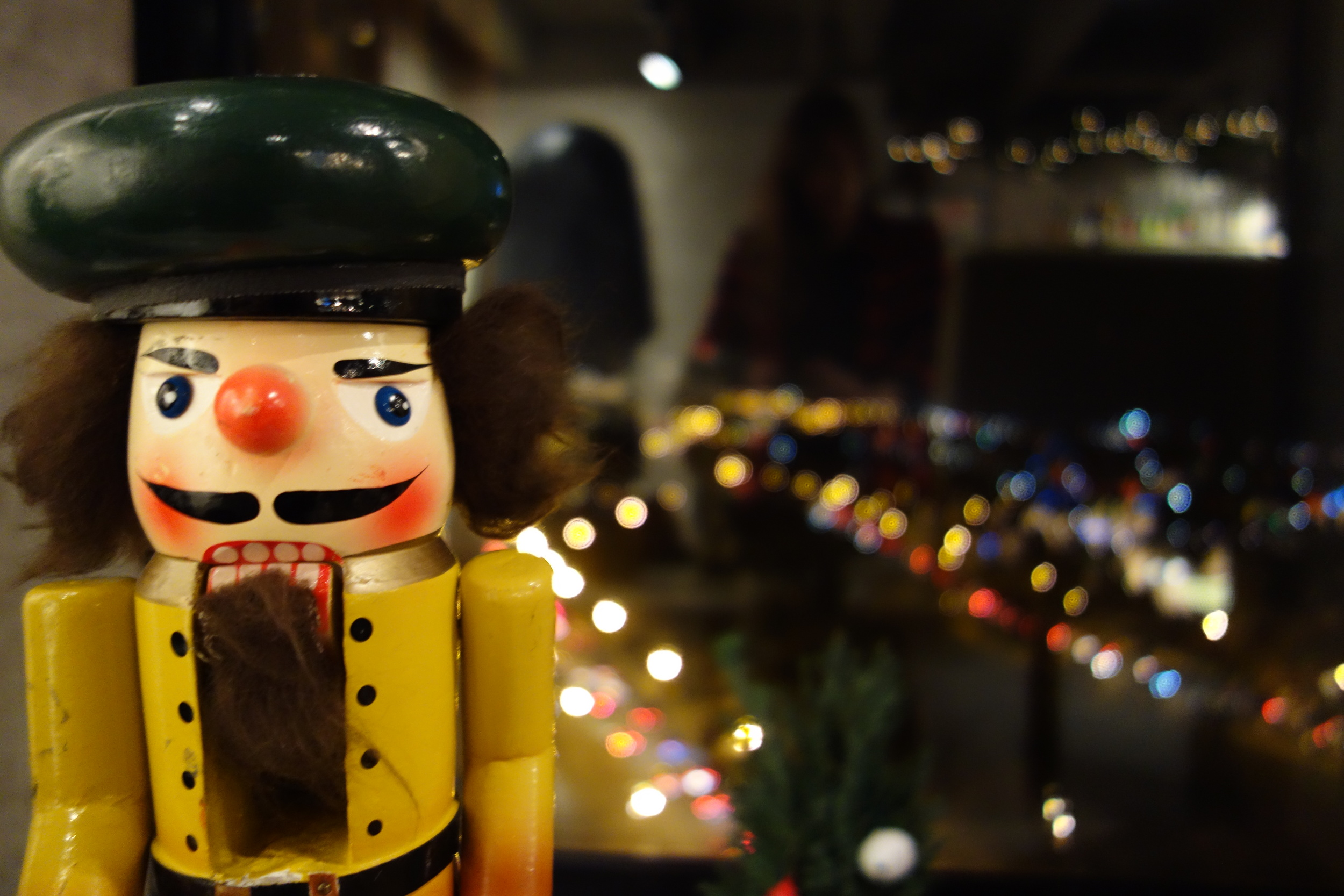 The vintage Nutcracker prop!