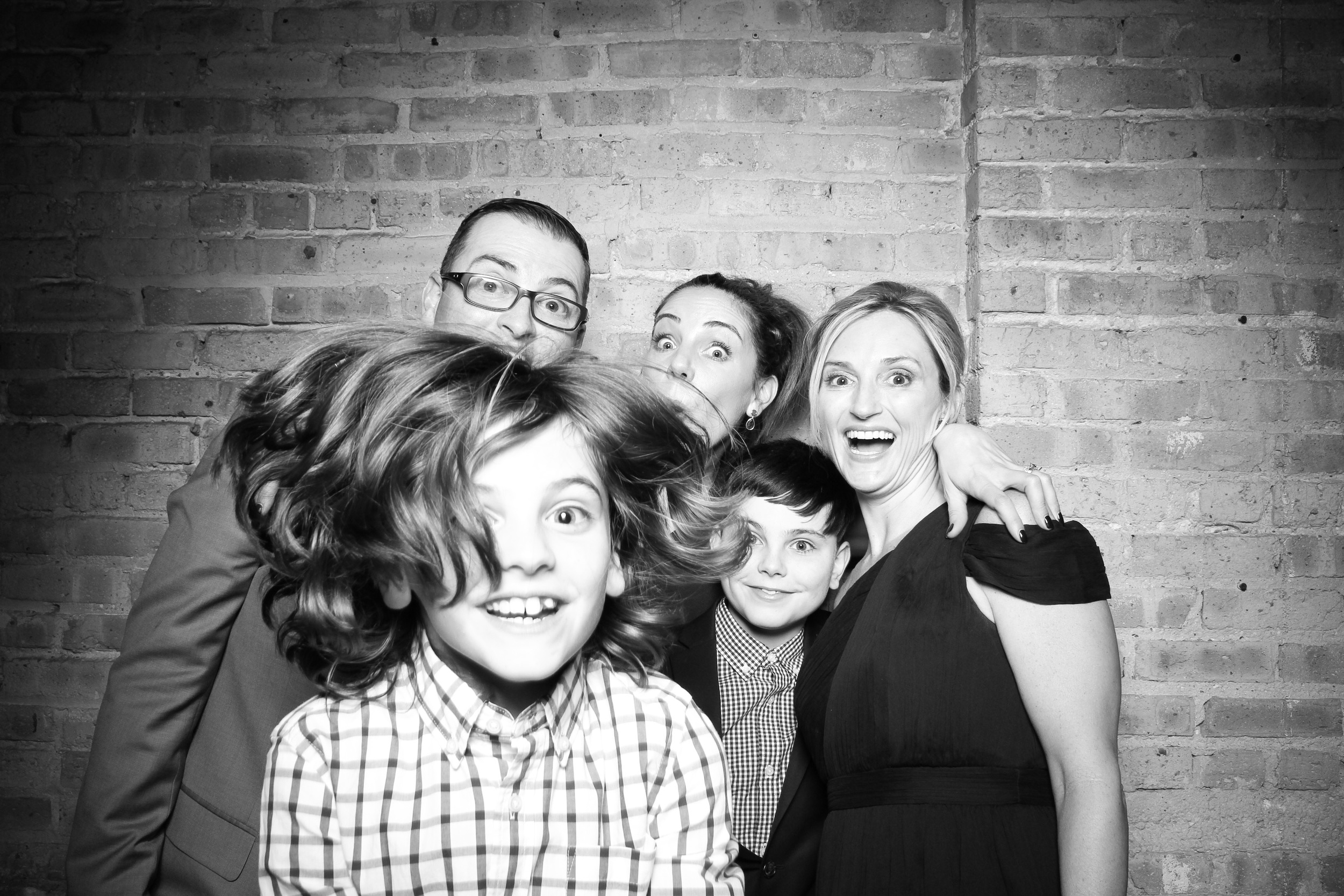 Photo Bomb Hair Model Shot! The Family looks impressed!