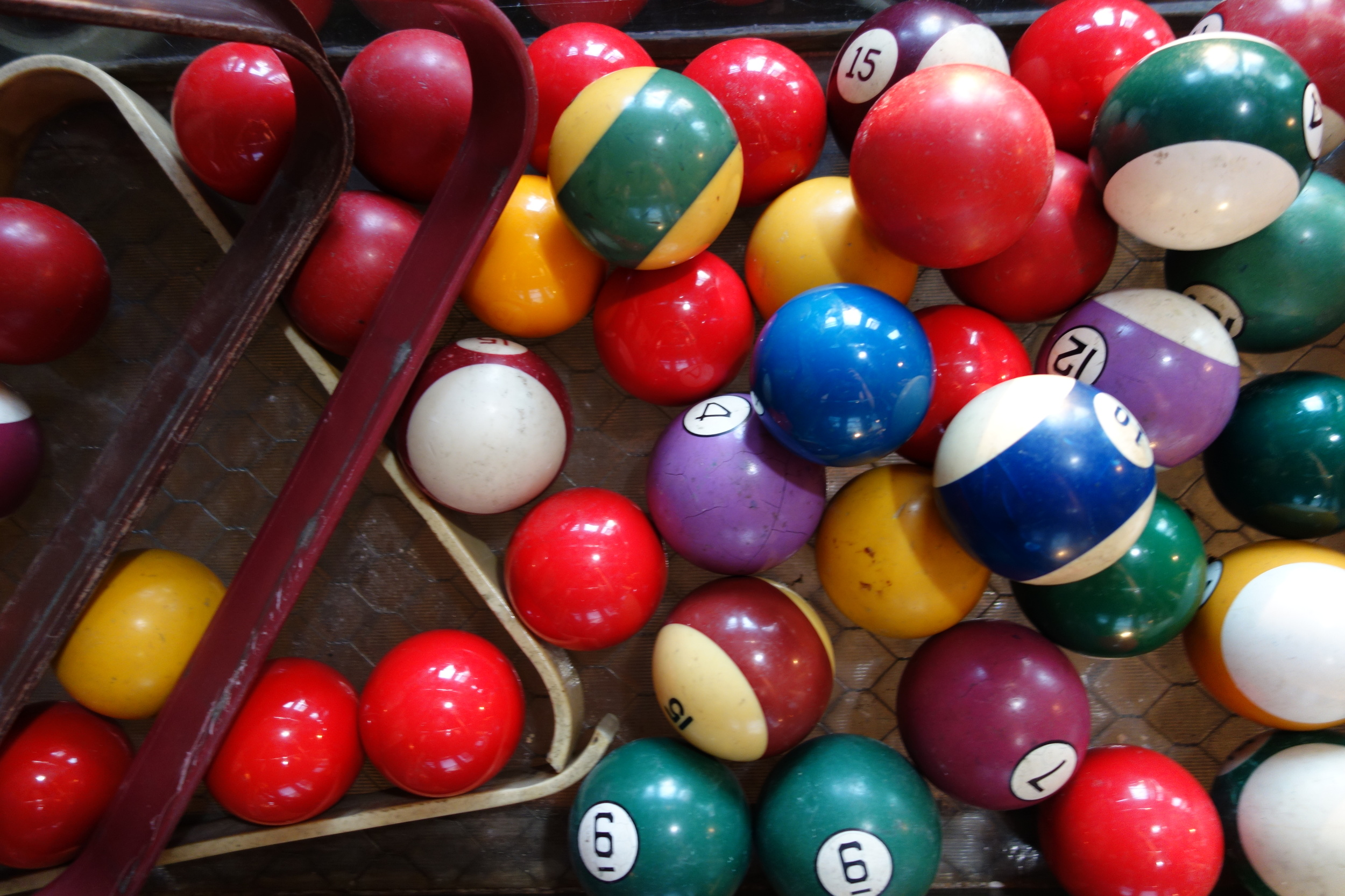Colorful pool balls!