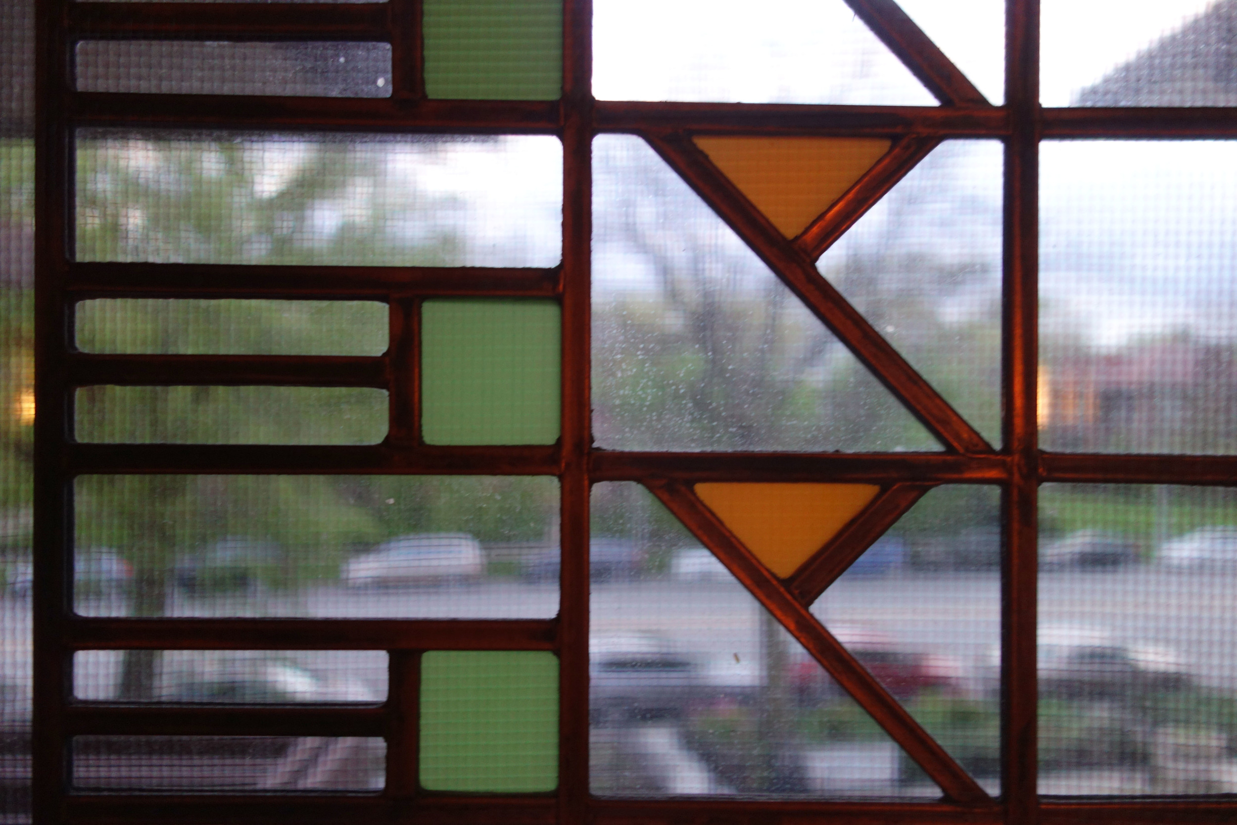 Frank Lloyd Wright window detail.