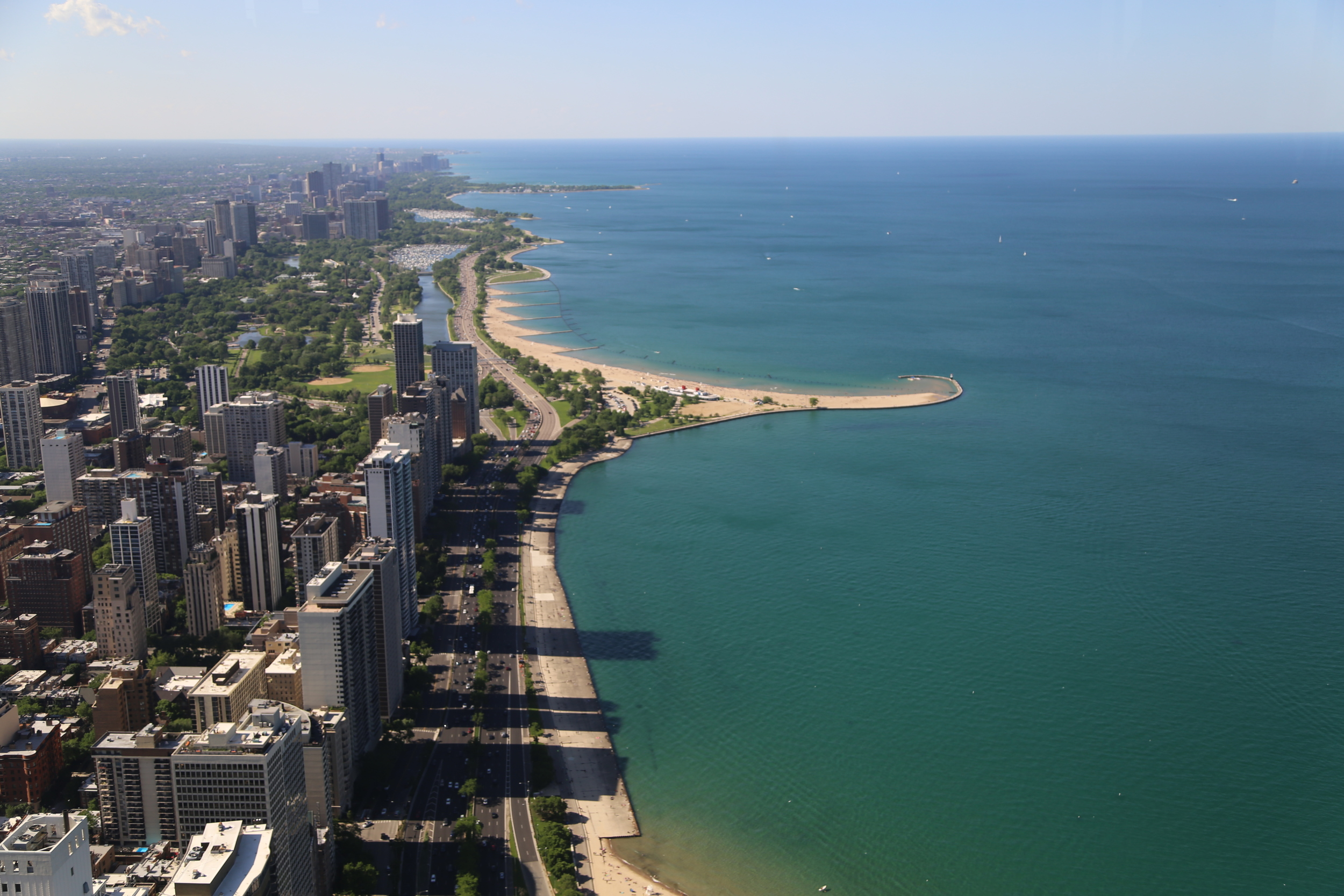 View looking North towering over Lake Shore Drive!