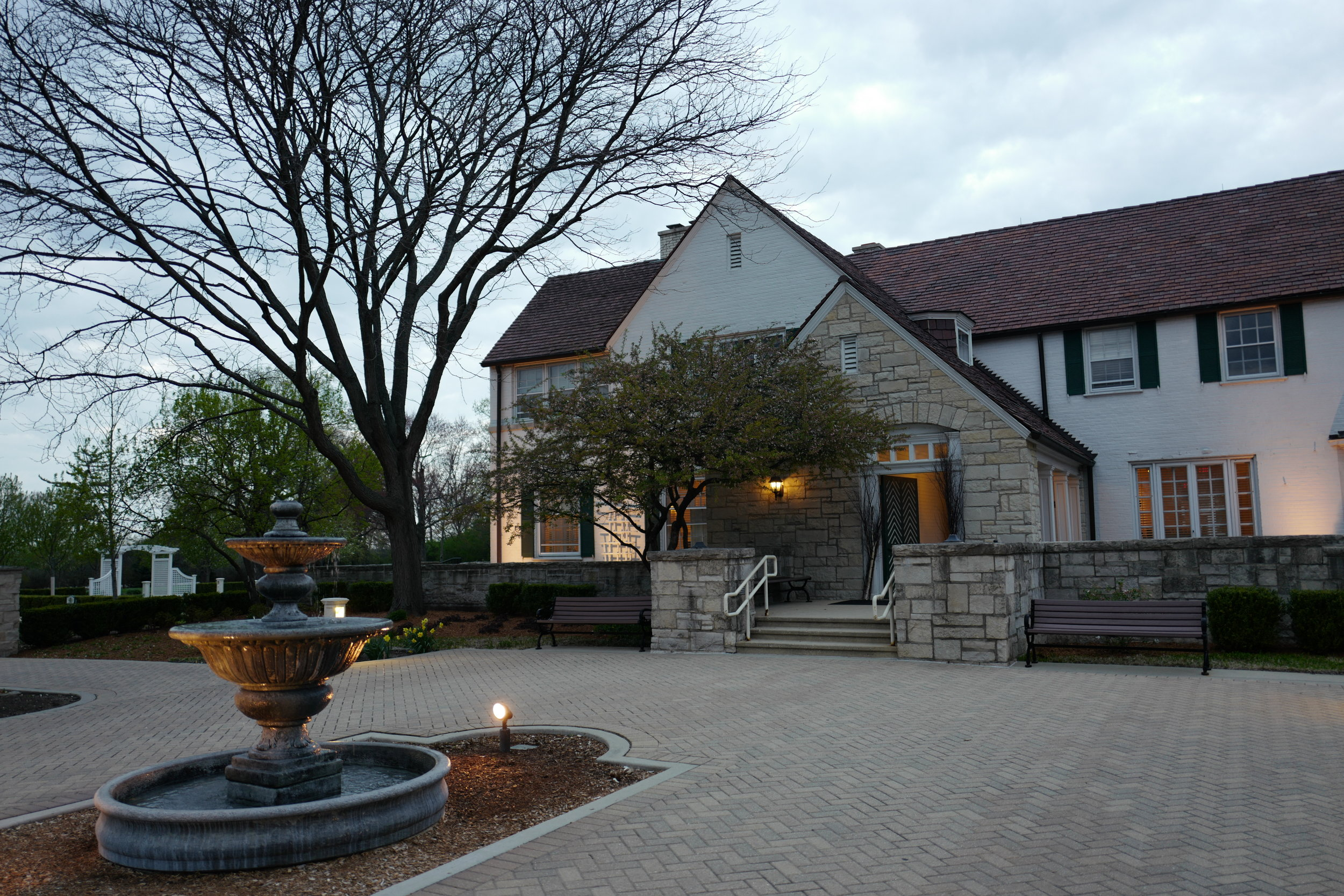 The exterior of the Danada House in Wheaton, IL