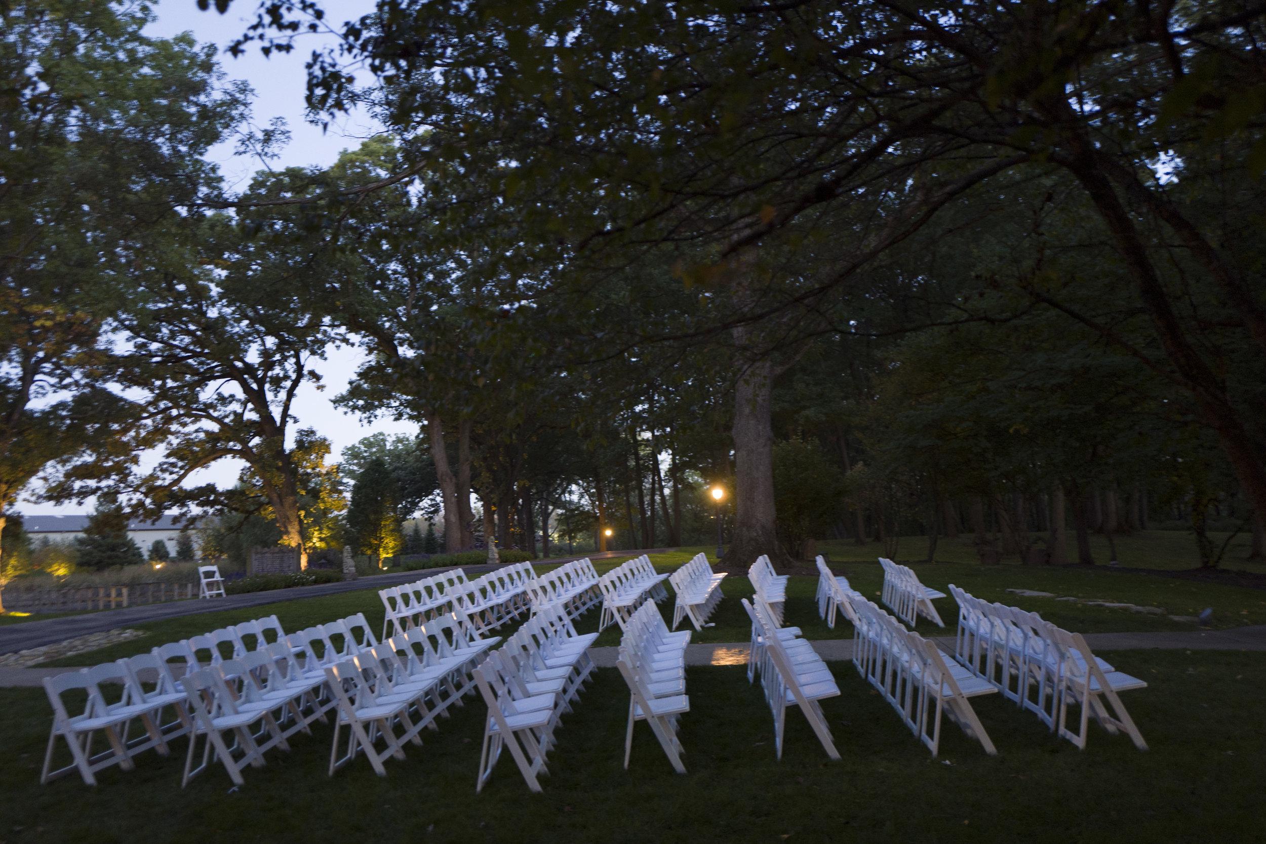An outdoor wedding ceremony at Monte Bello Estate!