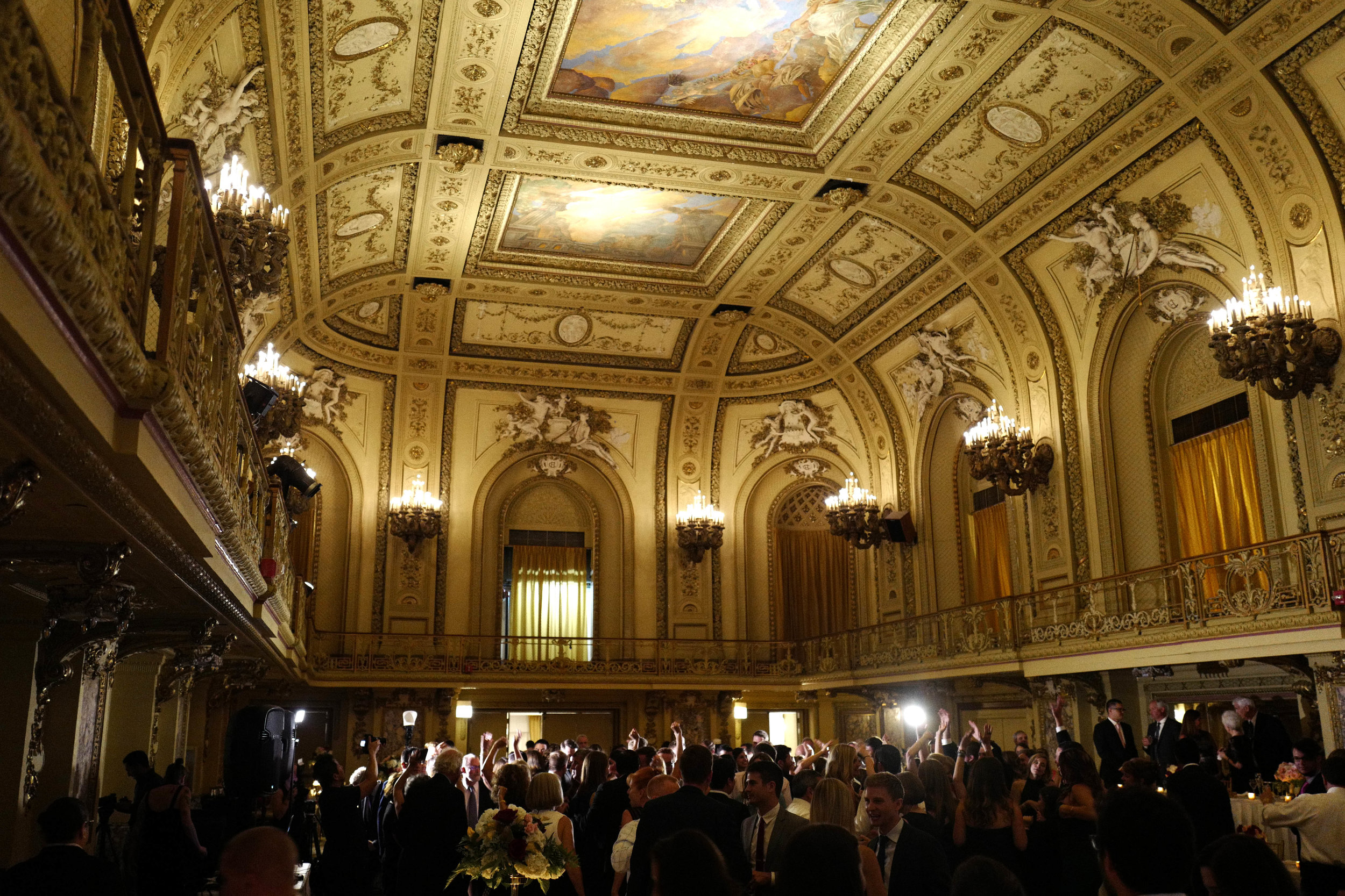 The Gold Room ceilings are breathtaking!