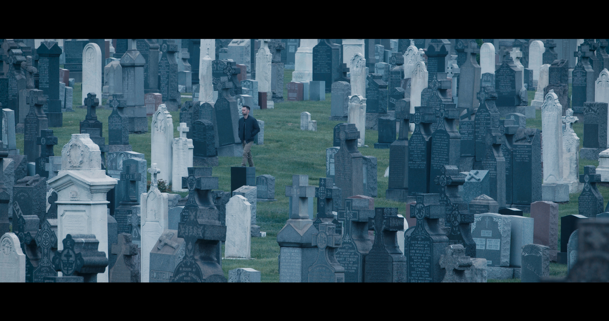DAY 2 - Filming at a Cemetery in Queens. Sony FS7, Nikon 70-200mm f/2.8 .