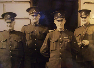 Sgt, Const Gerb Hulffn  (Far left) and his team of front lineclerical duties officers preparing to door knock for SerialKillers in Newcastle.