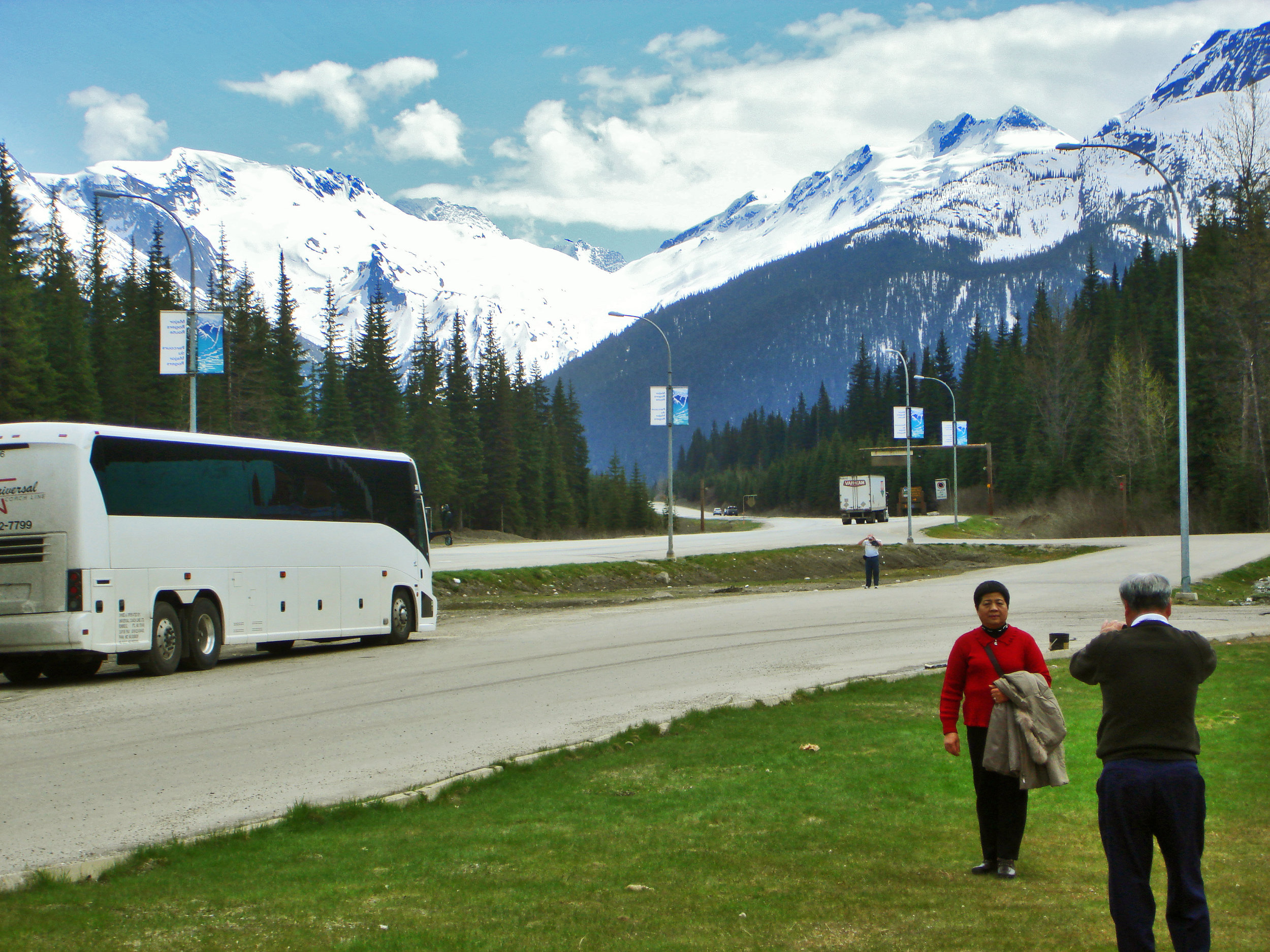 Canada & Alaska  -  I once viewed Canada & Alaska from busses, trains and a large ship with a group of elderly Australians enjoying a holiday.