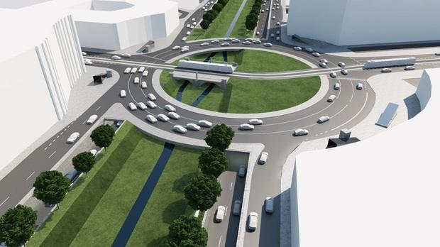 """Кръговото в стил """"4-ти километър"""" не предвижда пешеходния трафик между Централна гара и Ларгото"""