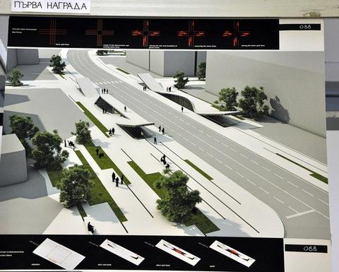 Метростанция 20 - един от двата спечелили проекта