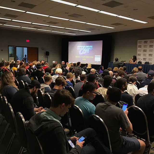 Good crowd for the #awesomecon2019 #filmfest today. Can't wait to see Forest Adventure.