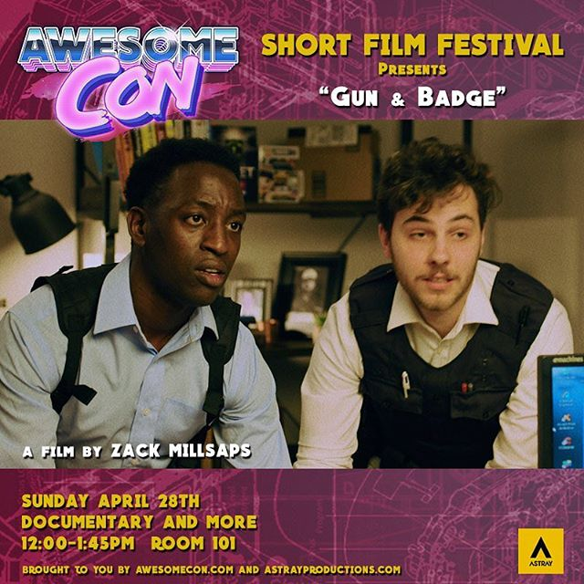 Let's do this Gun & Badge. Day three of the #awesomecondc2019 film festival. Let's add a little comedy to loosen things up between these documentaries.