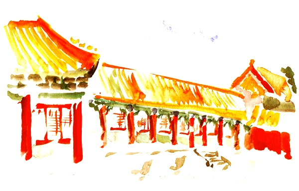 Forbidden City Arcade, Beijing China