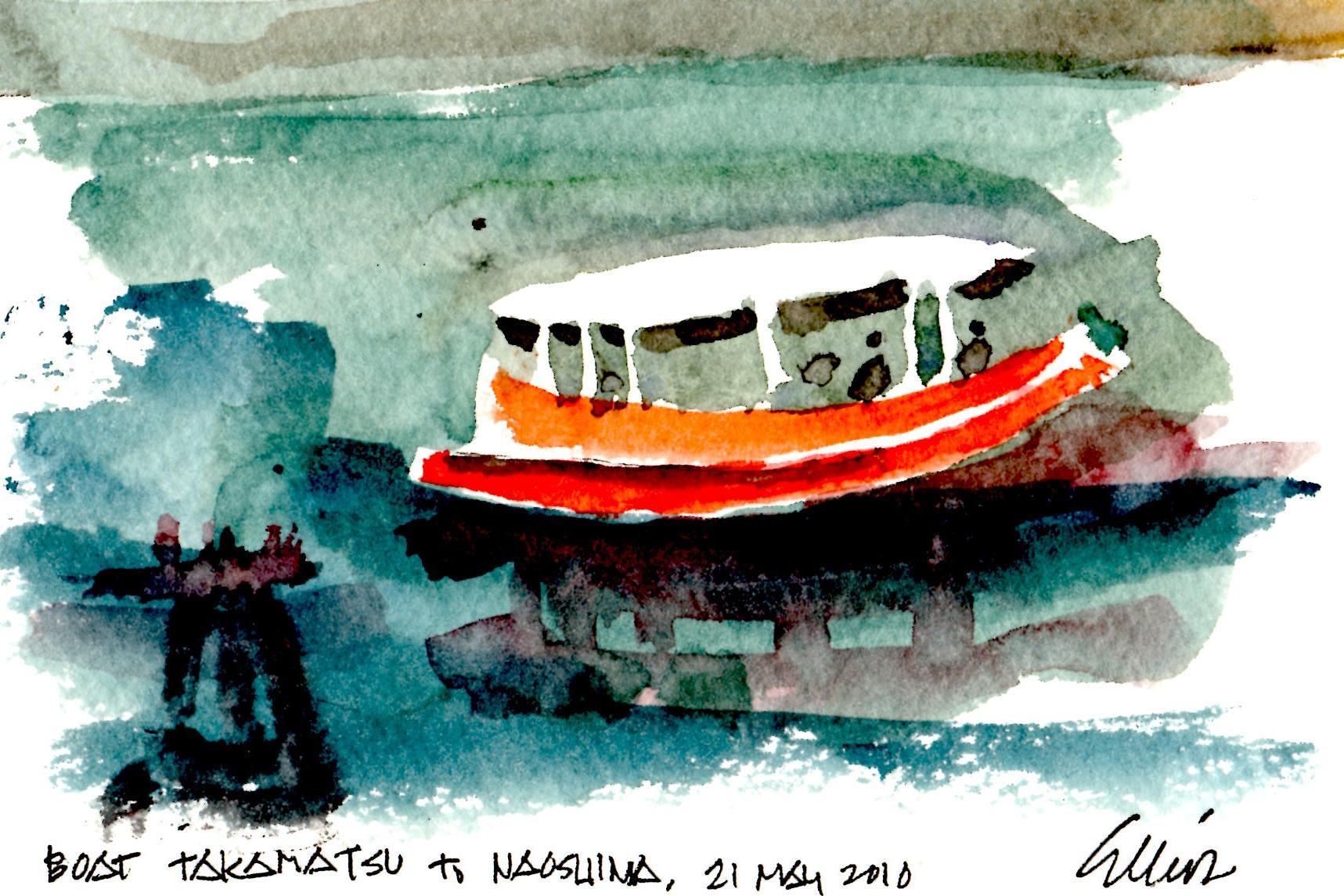 Boat Takamatsu to Naoshima