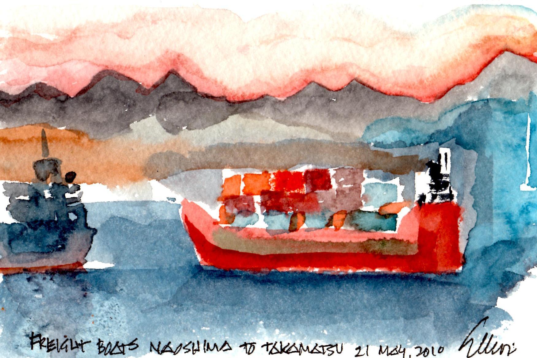 Freight Boats Naoshima to Takamatsu