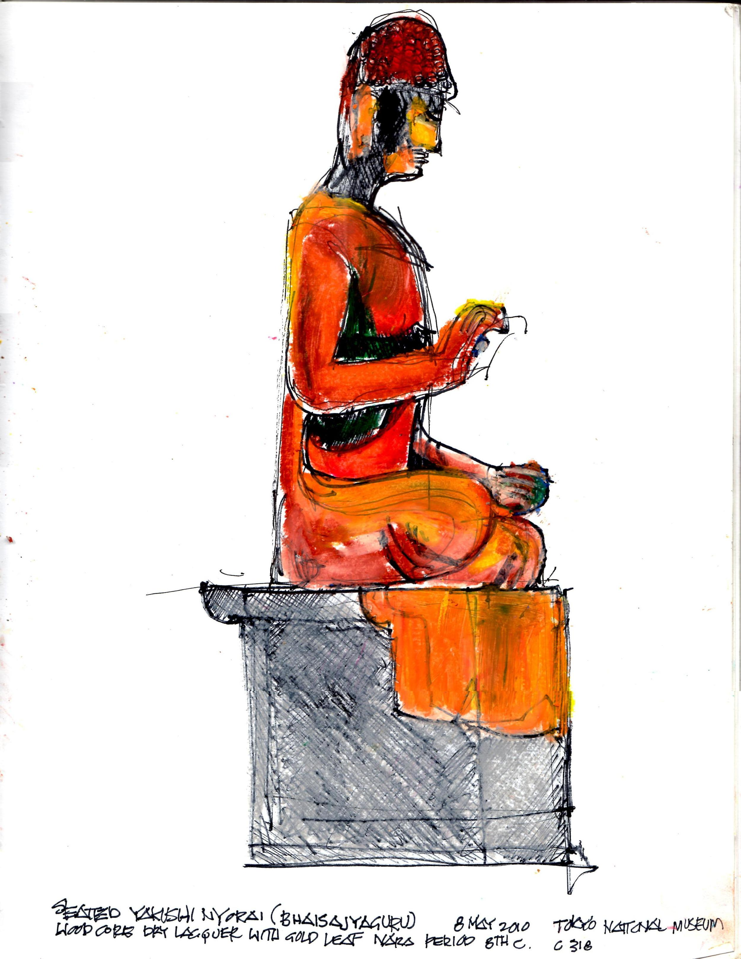 Seated Yakushi Nyorai (Bhaisajyaguru)