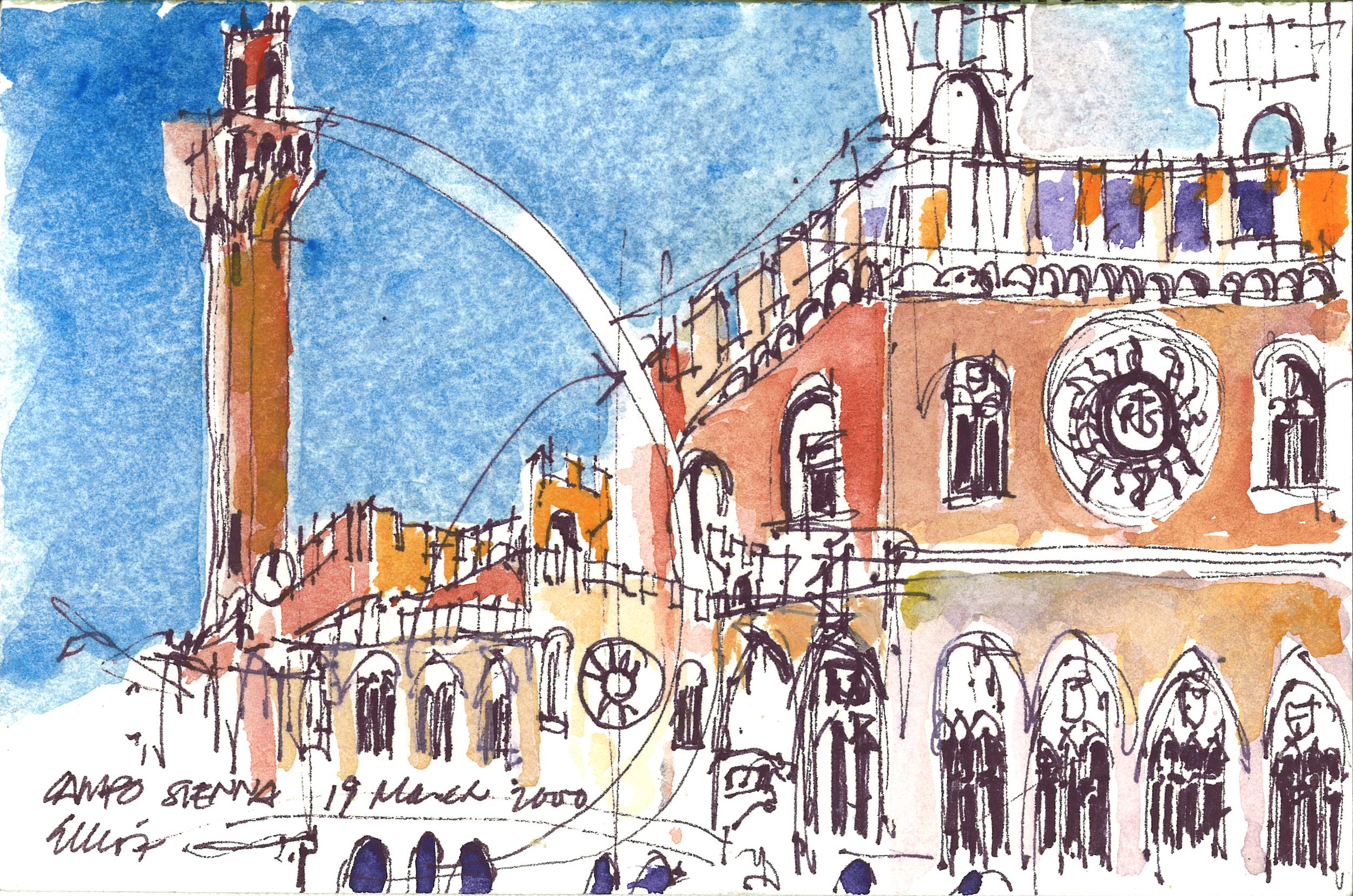 Piazza del Campo Tower, Sienna