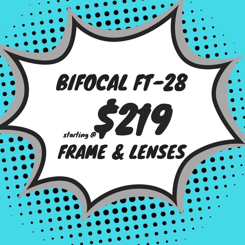 Bifocal safety eyeglasses (frame & Lenses) starting at $219