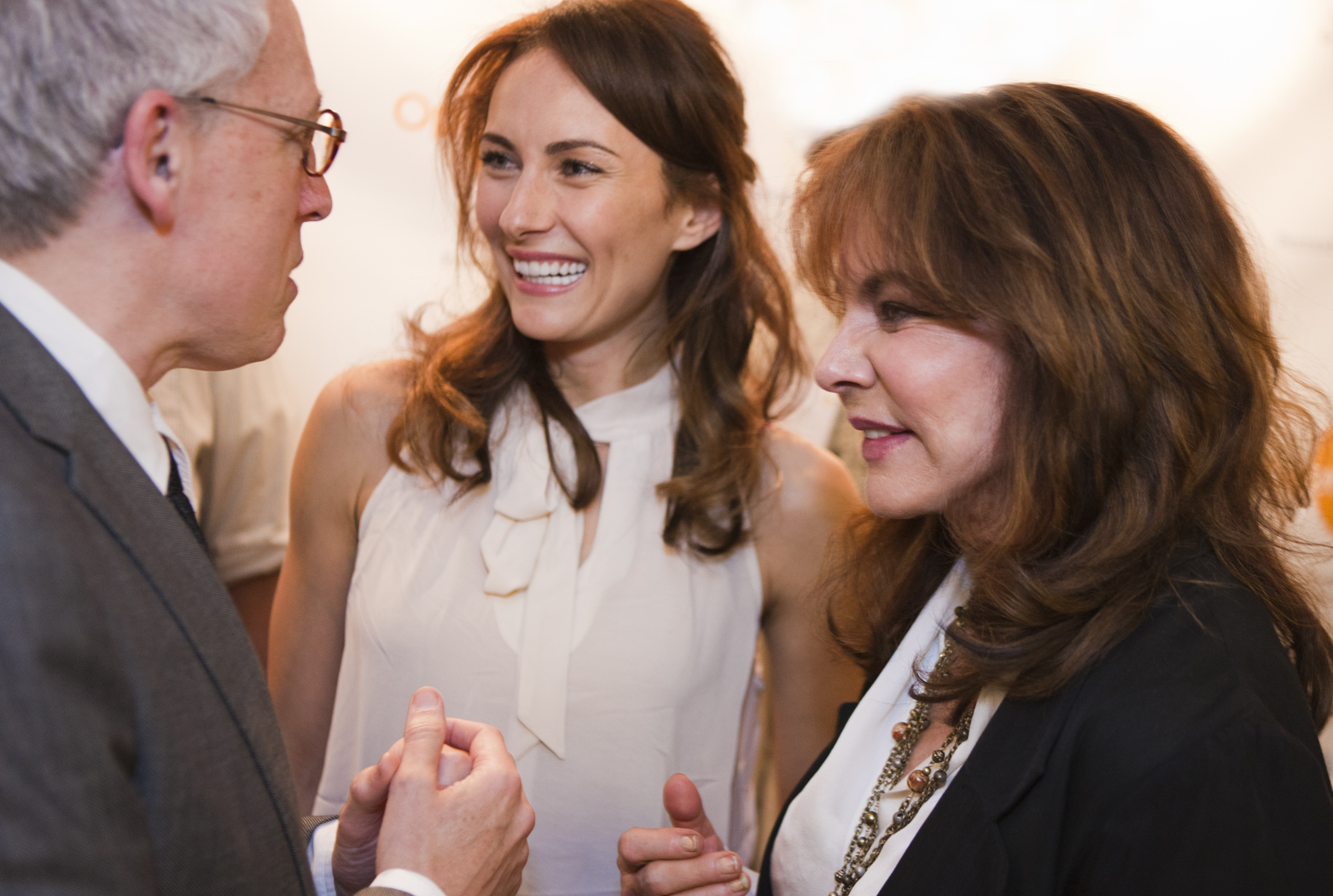 playwright Donald Margulies and stars Laura Benanti and Stockard Channing