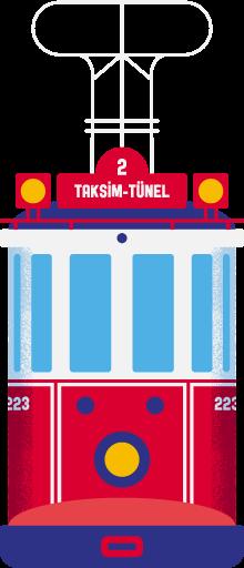 Taksim-Tünel Tram, Istanbul. Design (c) Tamer Köşeli