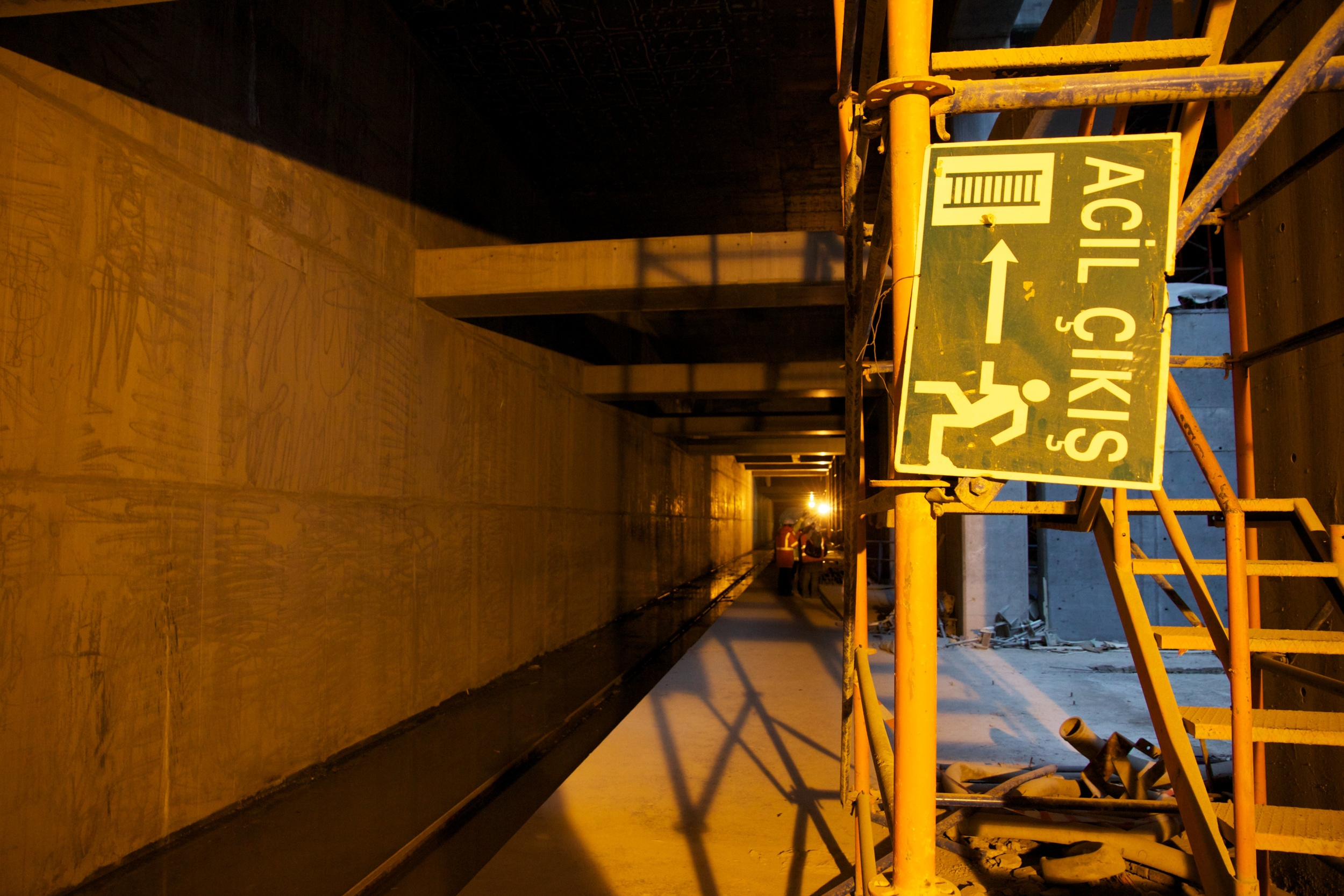 Sortie de secours - Construction de la ligne de métro Marmaray. Photo : Erinç Salor